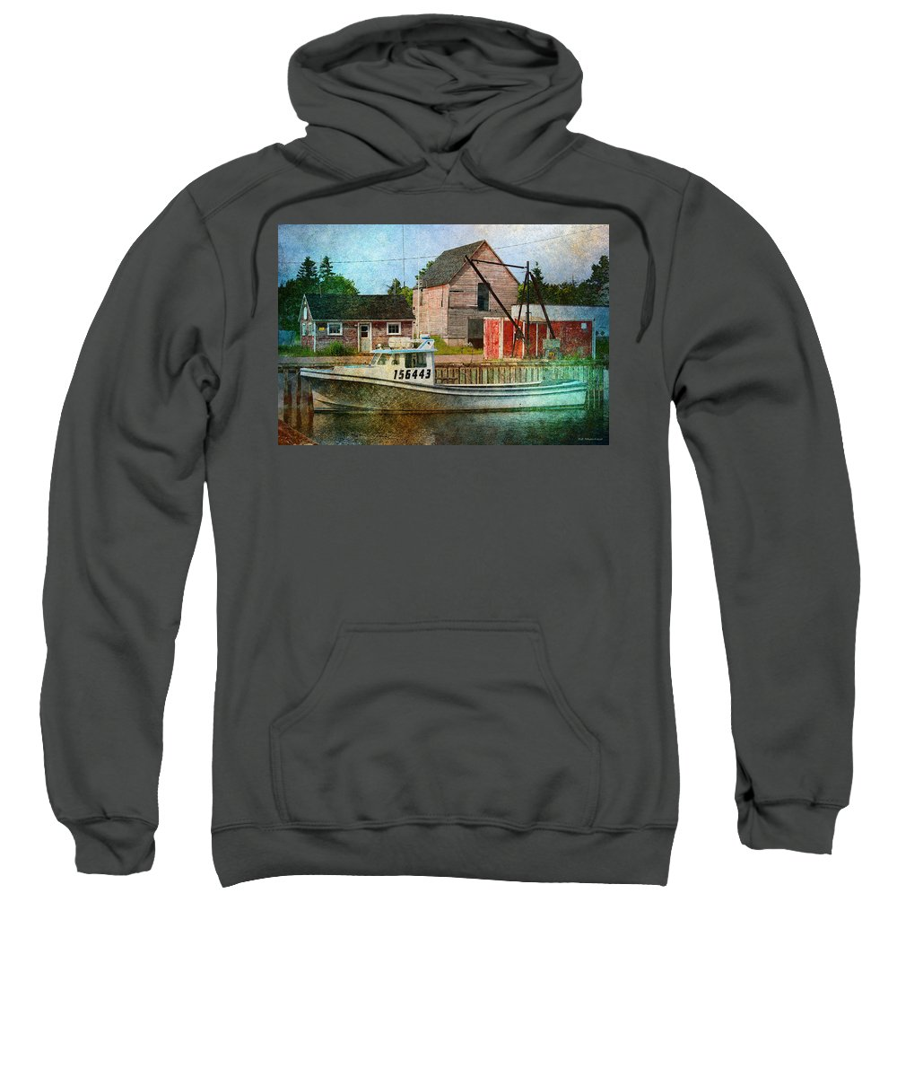 Lobster Sweatshirt featuring the photograph West Point 156443 by WB Johnston