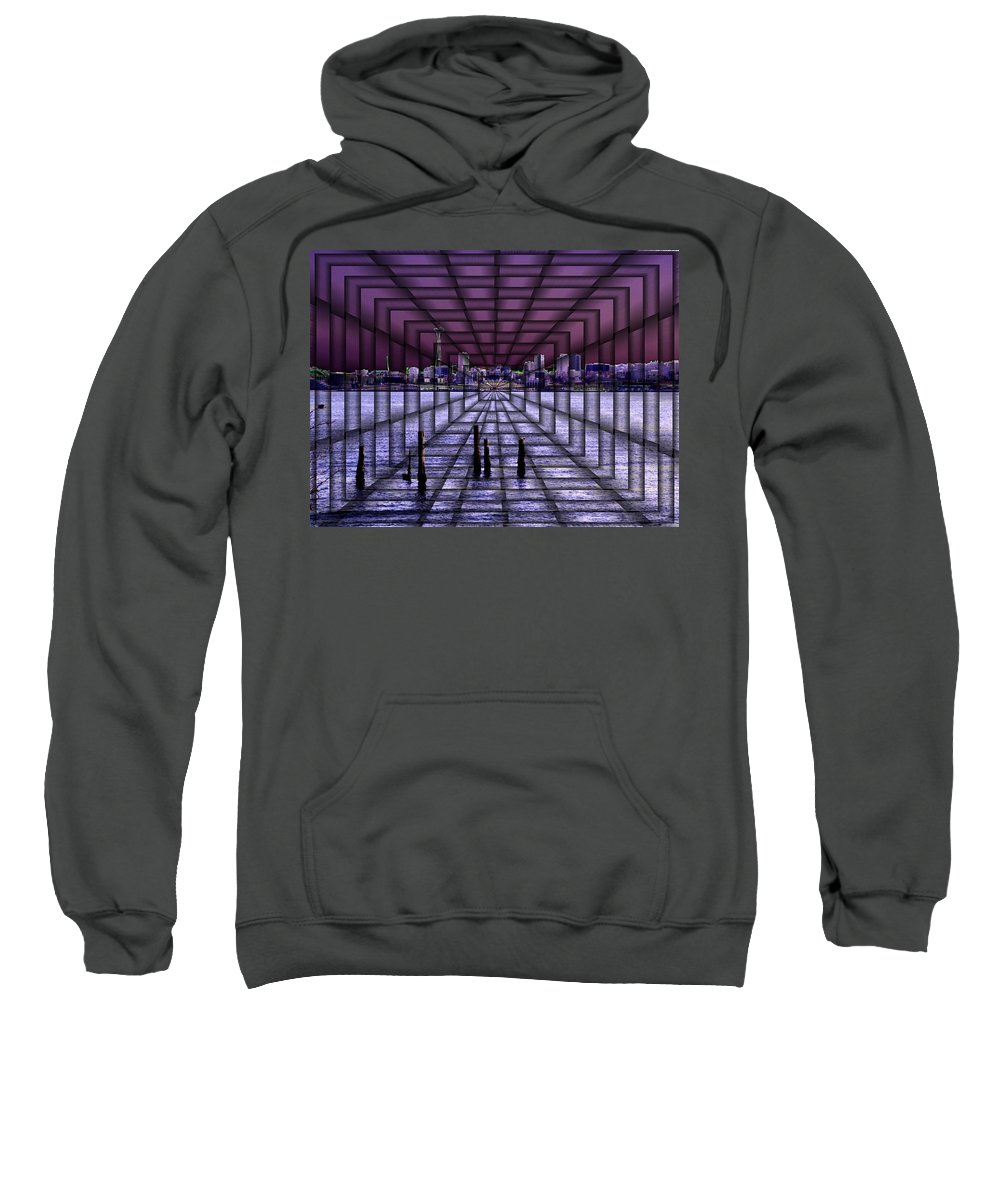 Seattlel Sweatshirt featuring the digital art West Seattle Vortex by Tim Allen