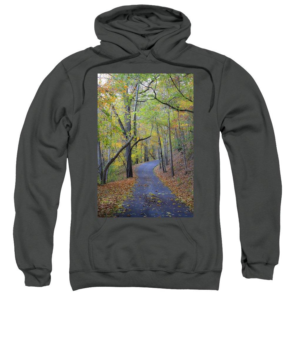 Fall Sweatshirt featuring the photograph West Virginia Fall Scene by Teresa Mucha
