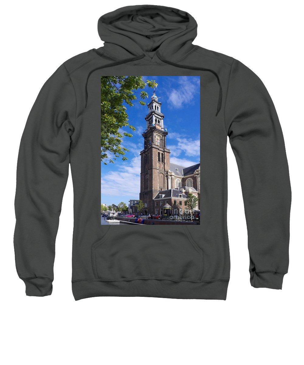 Westermarkt Sweatshirt featuring the photograph Westerkerk Tower And Church. Amsterdam. Netherlands. Europe by Bernard Jaubert