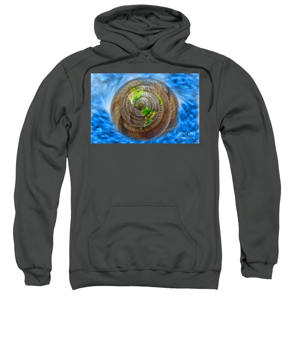 Concept Sweatshirt featuring the photograph Western Hemisphere On A Seashell by George Mattei