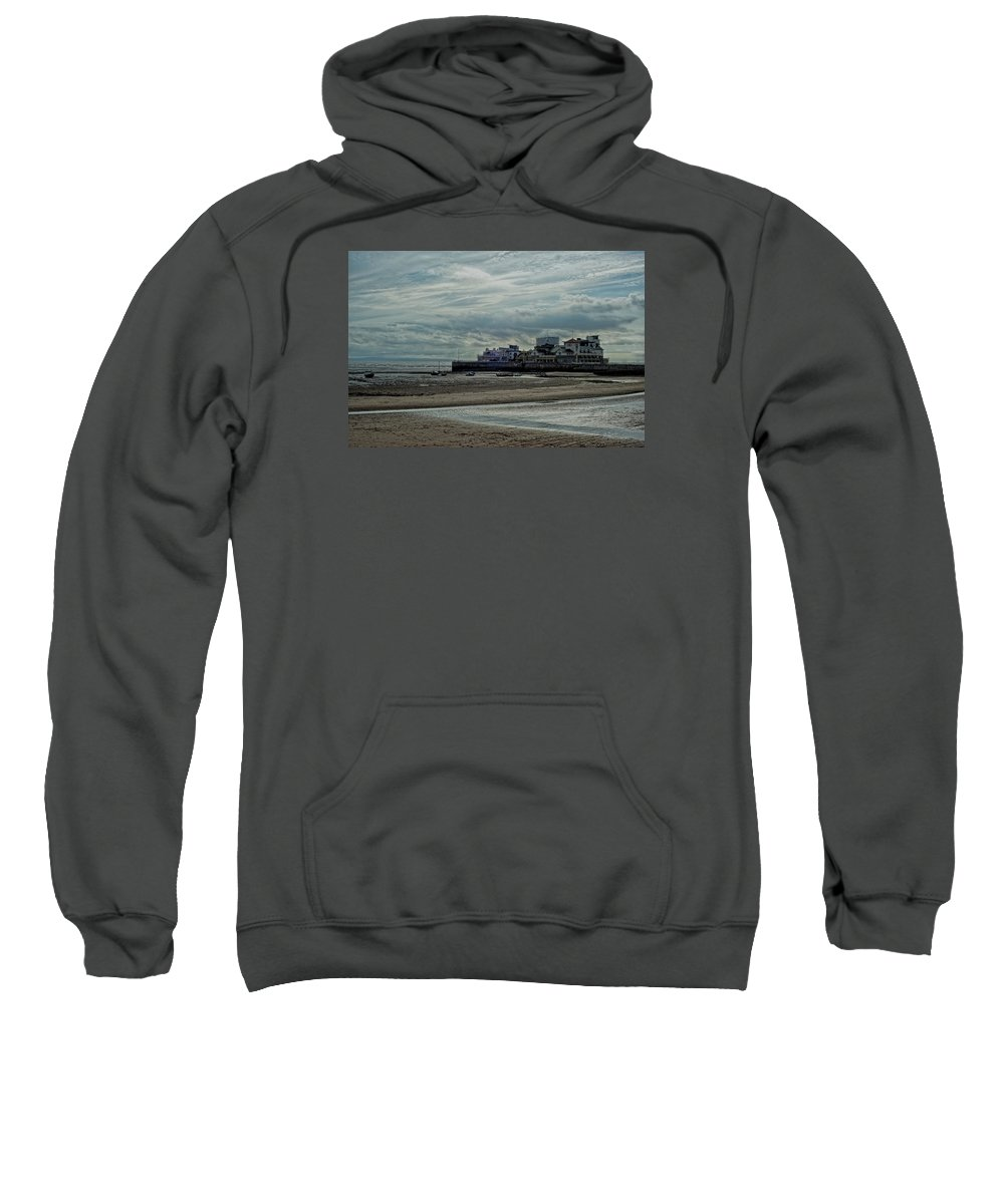 Beach Sweatshirt featuring the photograph Weston - Super -mare - Outflow - Hdr by Krzysztof Dac