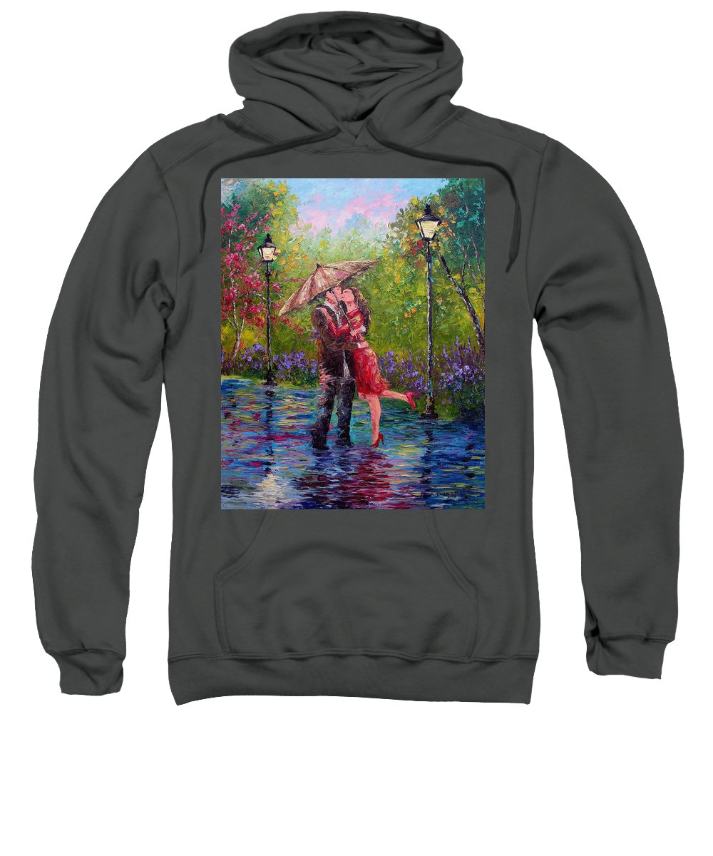 Kiss Sweatshirt featuring the painting Wet Kiss by David G Paul