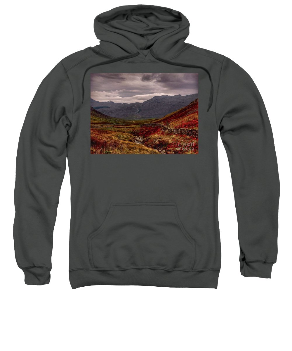 Wasdale Sweatshirt featuring the photograph What A View 2 by Joan-Violet Stretch