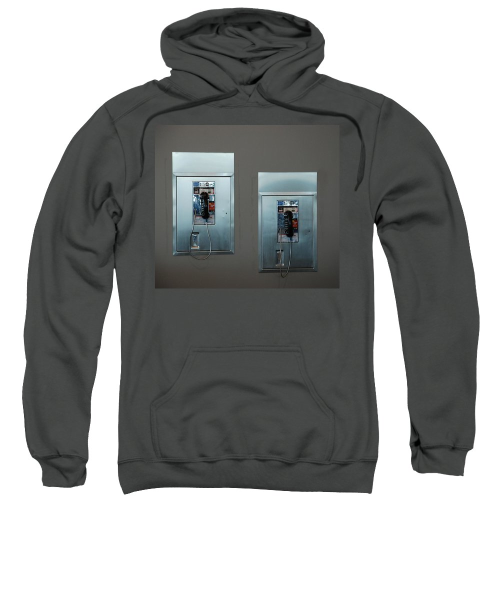 Pay Phones Sweatshirt featuring the photograph What Is That Dad .... Why It Is A Pay Phone Son by Rob Hans