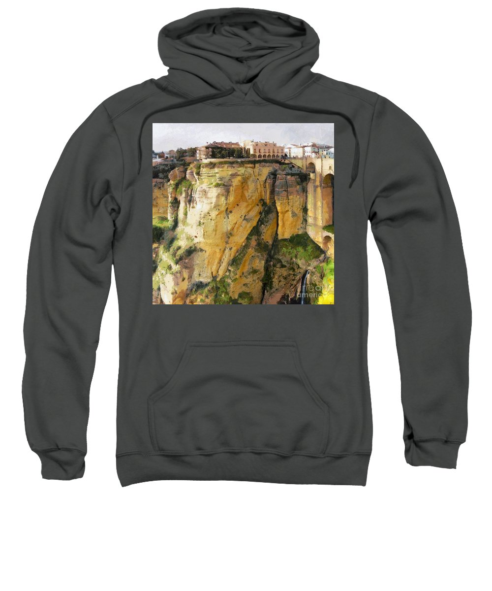 What Place Is This Sweatshirt featuring the painting What Place Is This by Catherine Lott