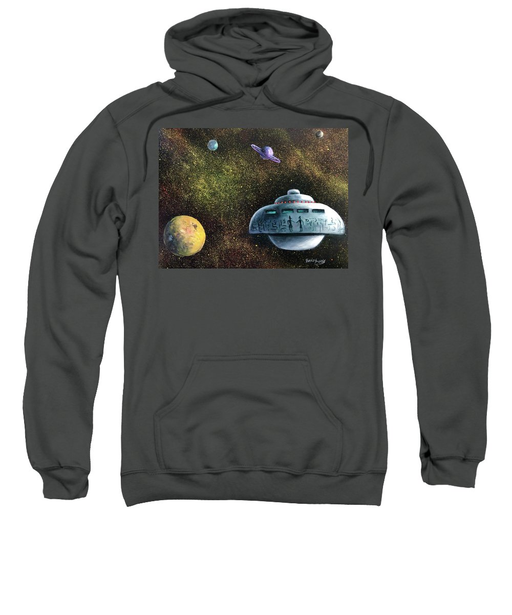 Ufo Sweatshirt featuring the painting What The Egyptians Knew by Randy Burns