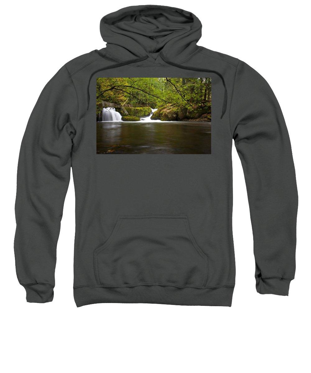 Water Sweatshirt featuring the photograph Whatcom Creek Gorge by Karen Ulvestad