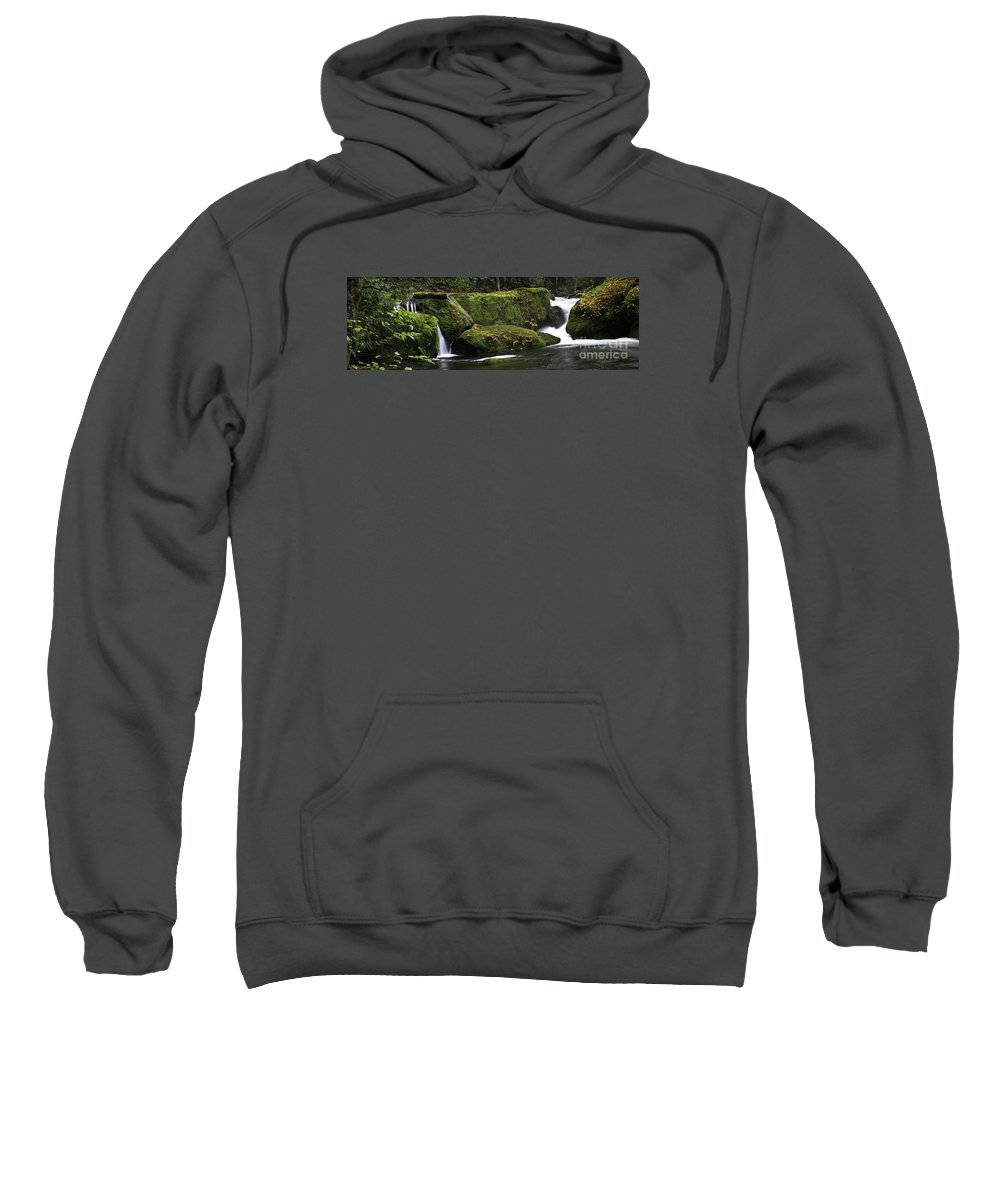 Whatcom Falls Sweatshirt featuring the photograph Whatcom Falls Park by Tim Hauf