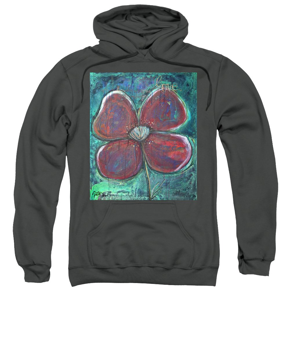Poppy Sweatshirt featuring the painting When I Finally Grow Up by Laurie Maves ART