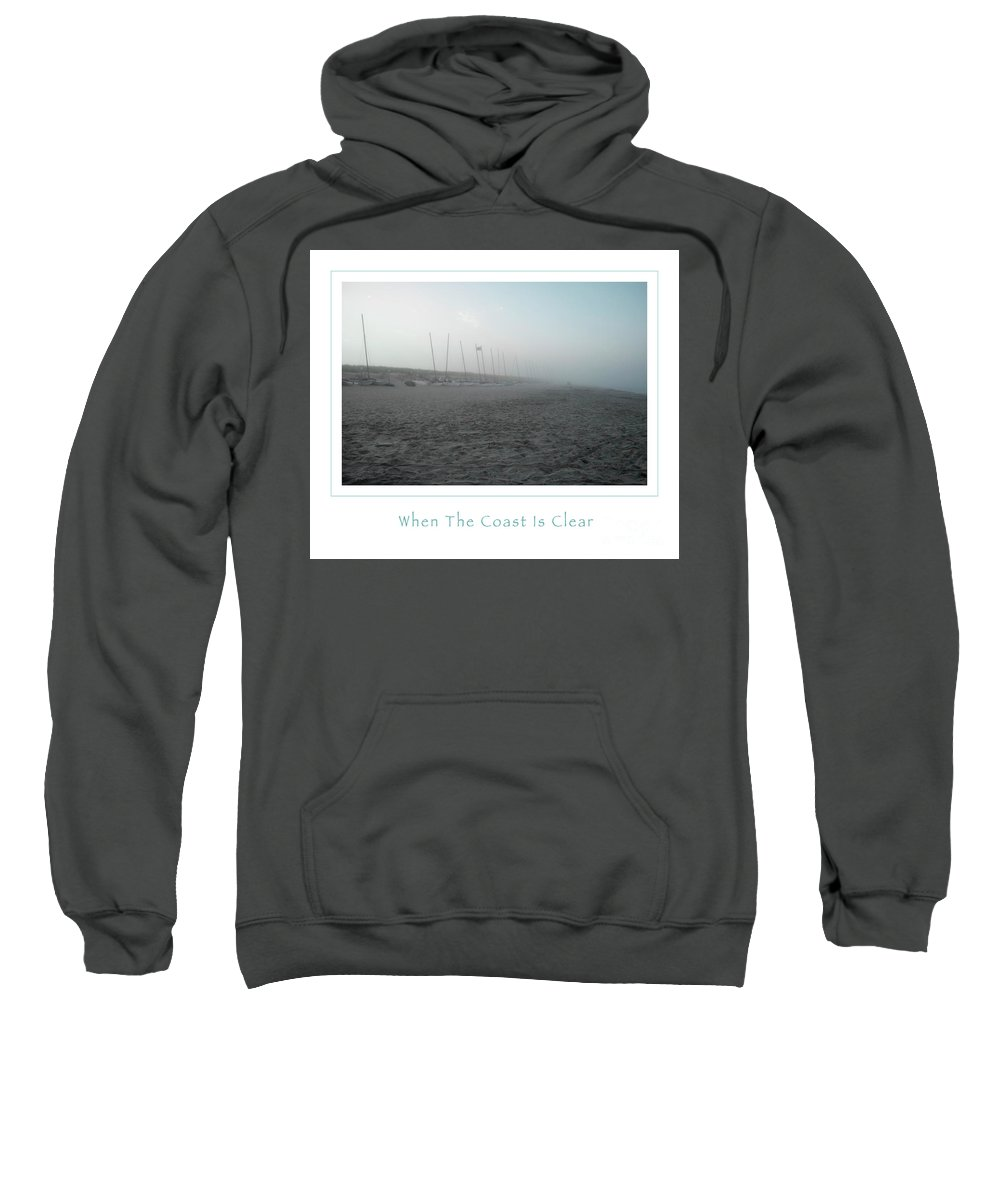 Boats Sweatshirt featuring the photograph When The Coast Is Clear by John Stephens