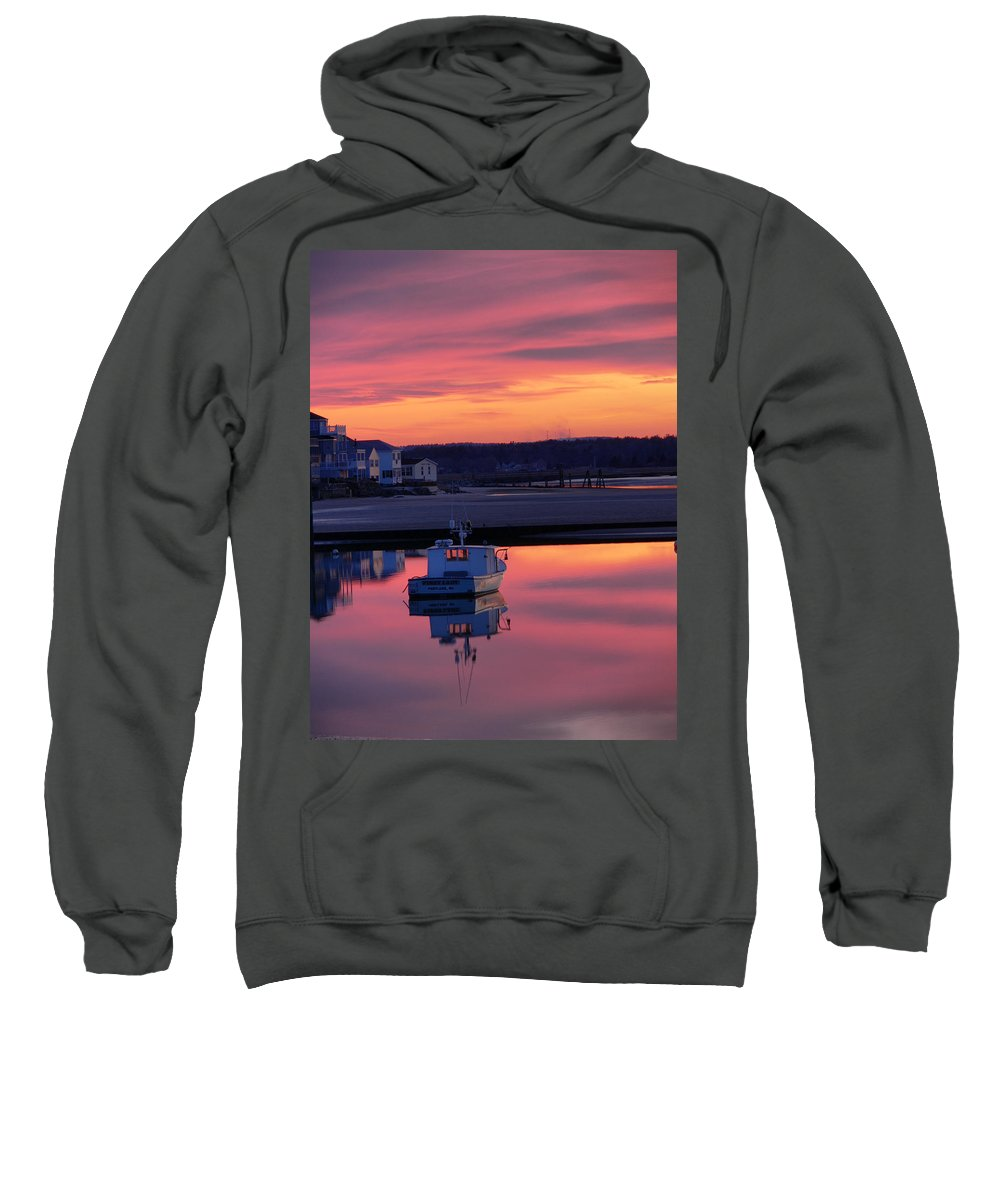 Spring Sweatshirt featuring the photograph When The Sun Goes Down by Nancie DeMellia