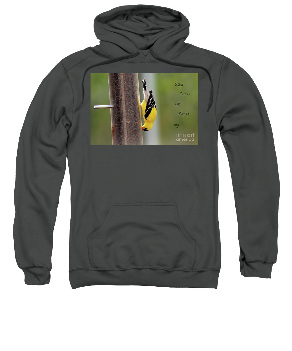 Bird Sweatshirt featuring the photograph When There's A Will... by Douglas Milligan