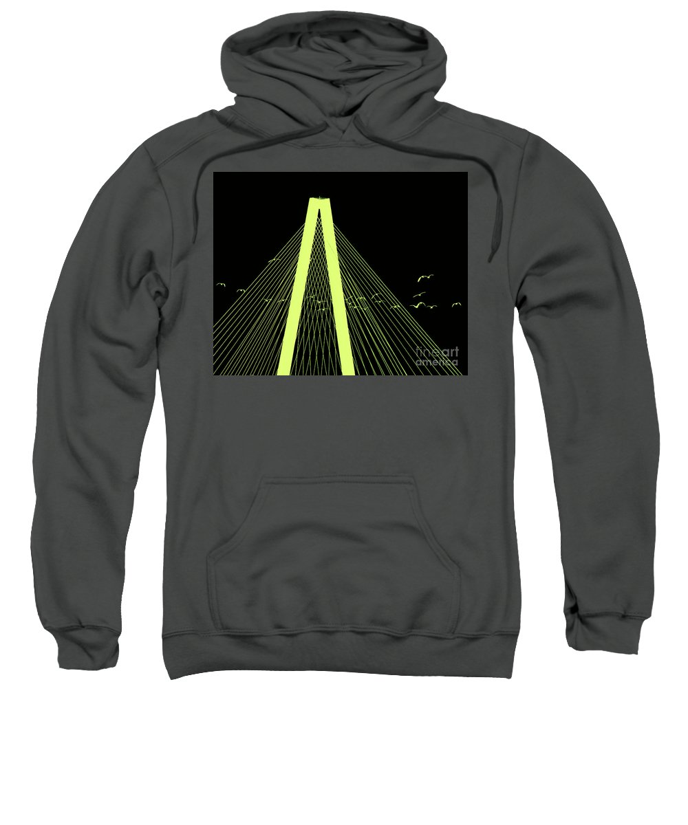 Arthur Ravenel Jr Bridge Sweatshirt featuring the photograph When Twilight Falls They Will Come by Scott Cameron