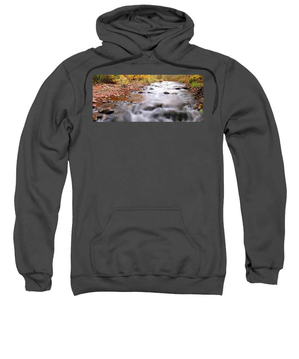 River Sweatshirt featuring the photograph Where Peaceful Waters Flow by Kristin Elmquist