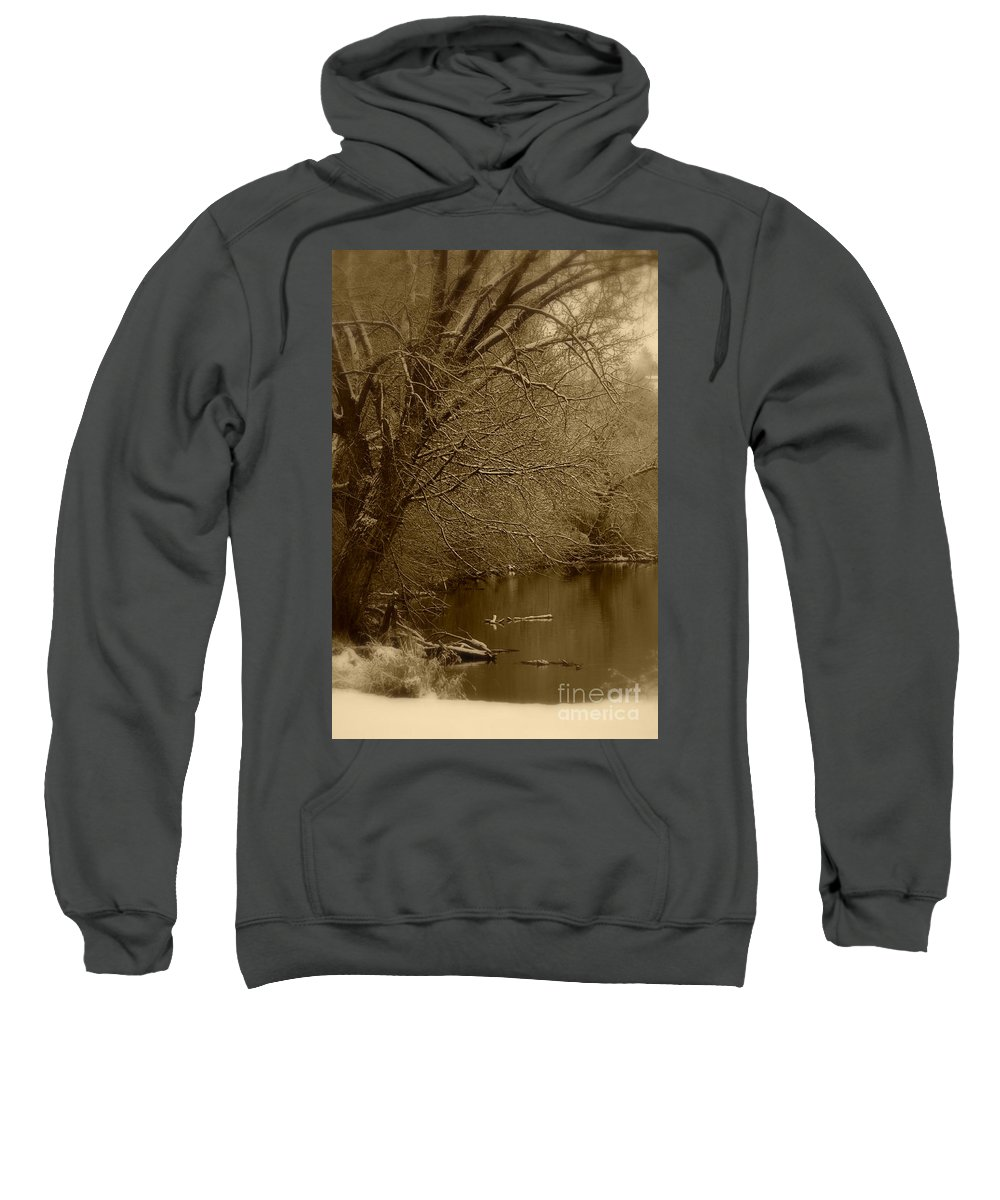 Winter Sweatshirt featuring the photograph Where The Otters Play by Carol Groenen