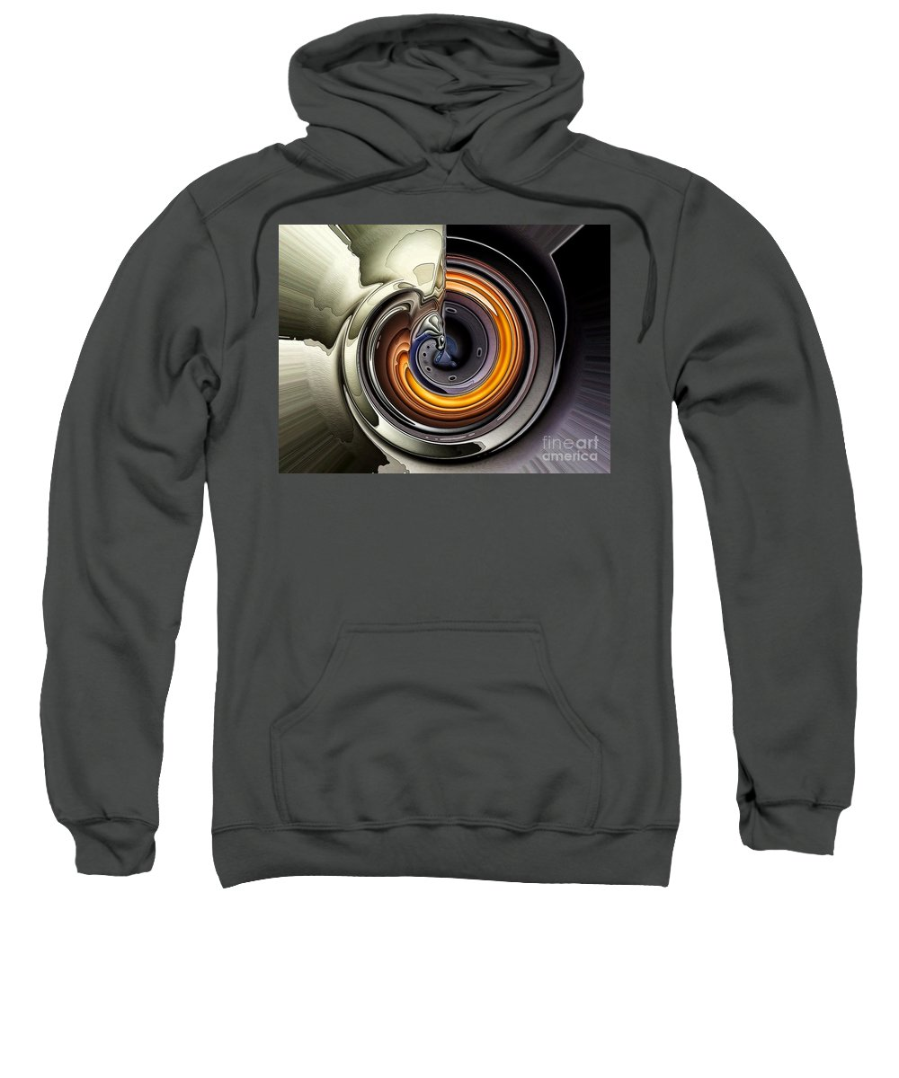 Abstract Sweatshirt featuring the digital art Where There Is Smoke by Ron Bissett