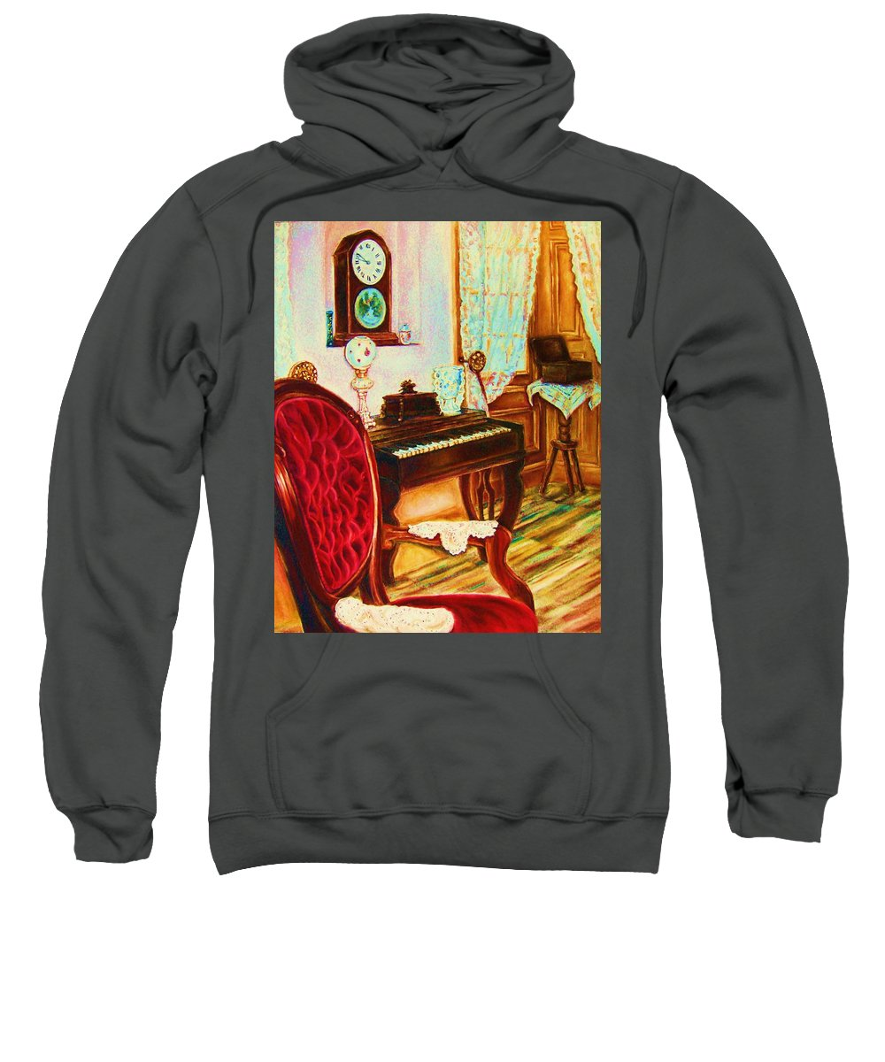 Prayer Room Sweatshirt featuring the painting Where Time Stands Still by Carole Spandau