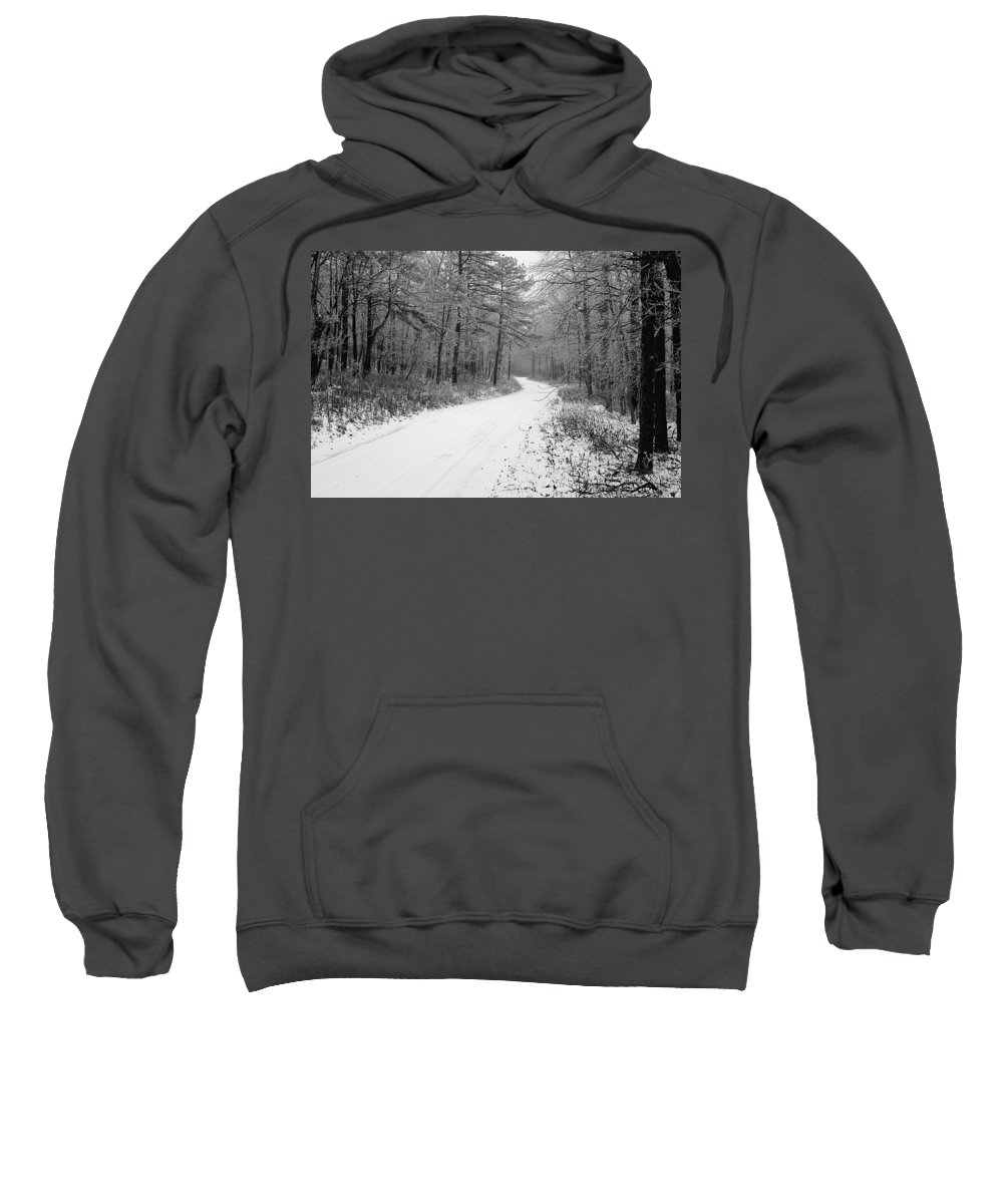 Winter Sweatshirt featuring the photograph Where Will It Lead by Jean Macaluso