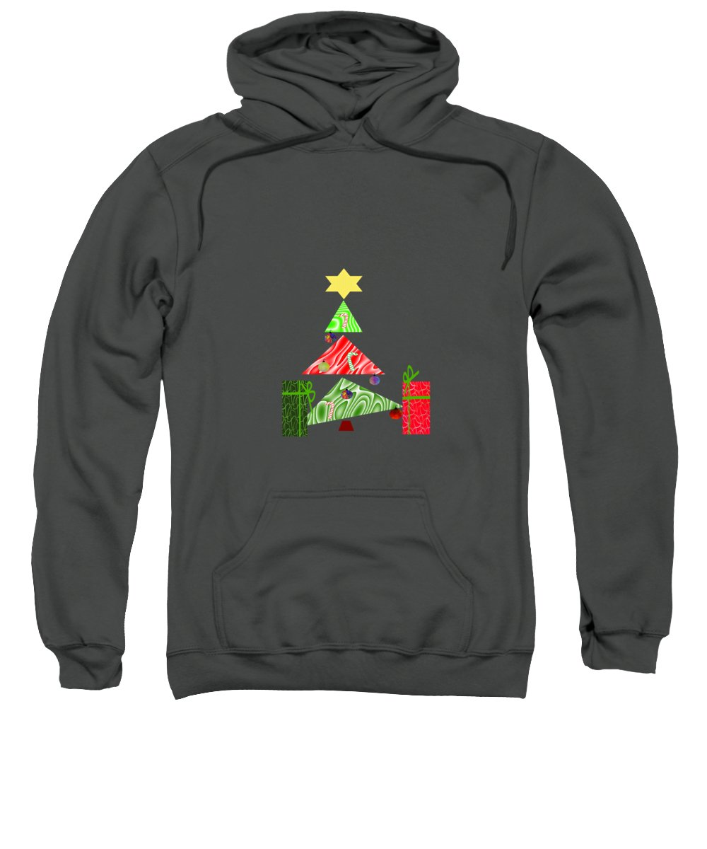 Gift Wrap Mixed Media Hooded Sweatshirts T-Shirts