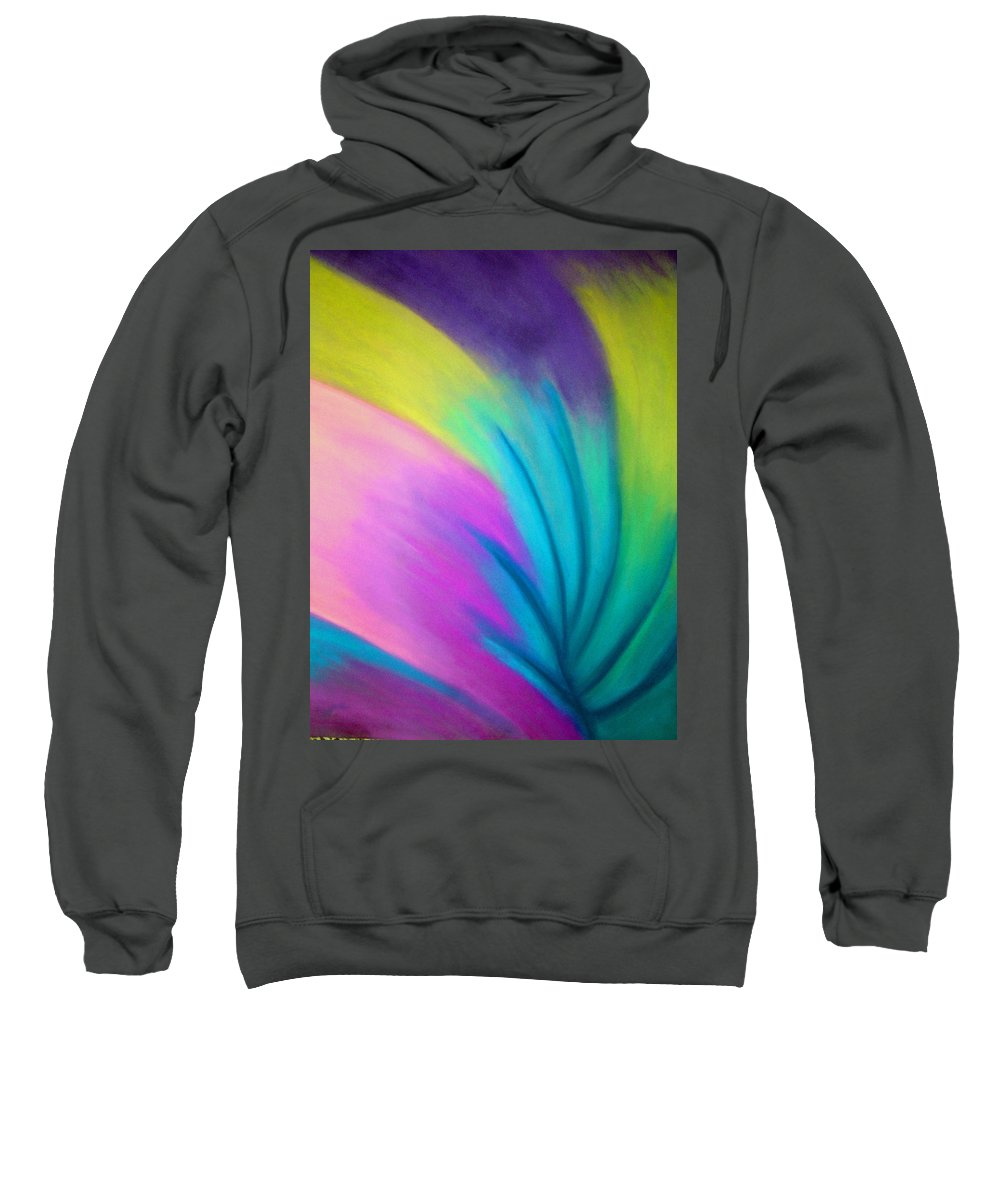Pastel; Colors; Abstract Drawing Sweatshirt featuring the drawing Whirlwind by Jan Gilmore