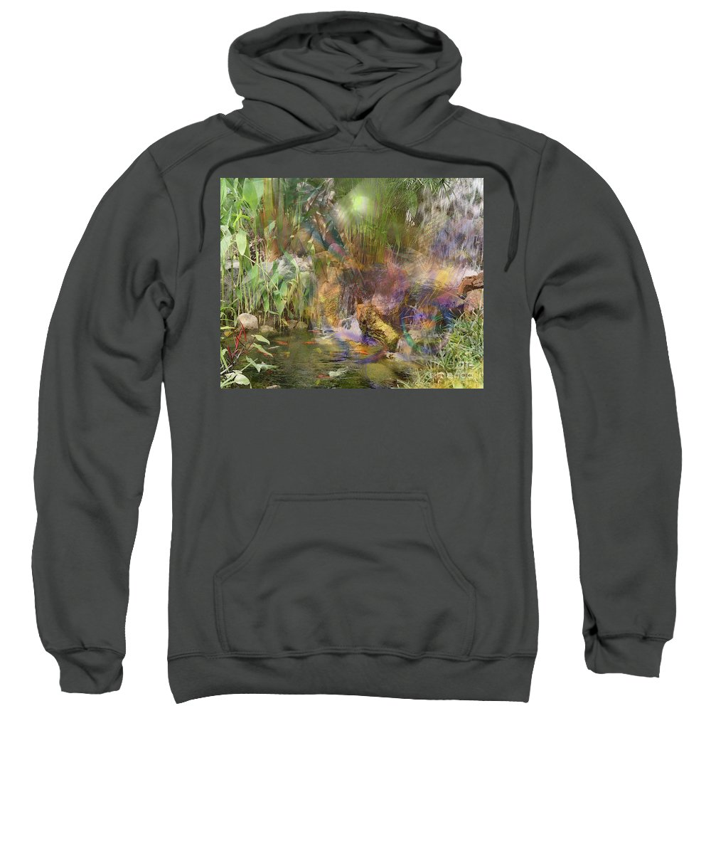 Whispering Waters Sweatshirt featuring the digital art Whispering Waters by John Beck