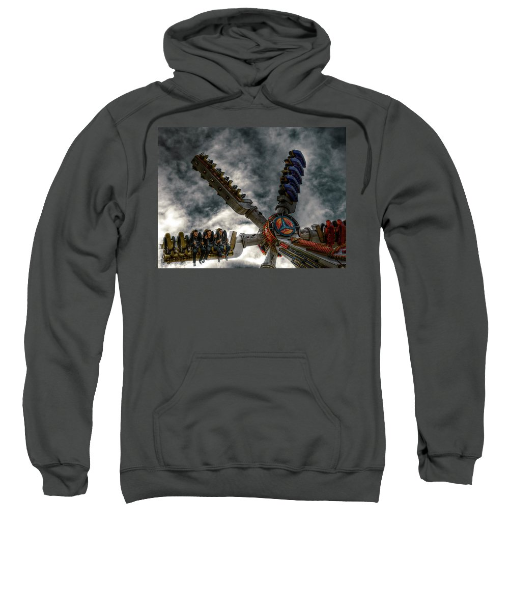 People Sweatshirt featuring the photograph White Knuckle Test by Wayne Sherriff