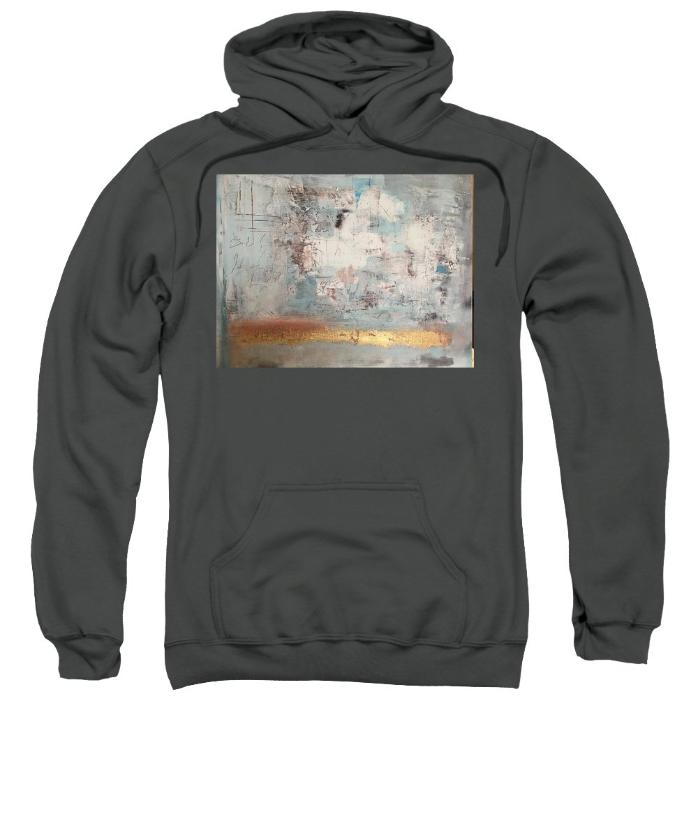 Abstract Painting Sweatshirt featuring the painting White Noize by Manuela Orlovska