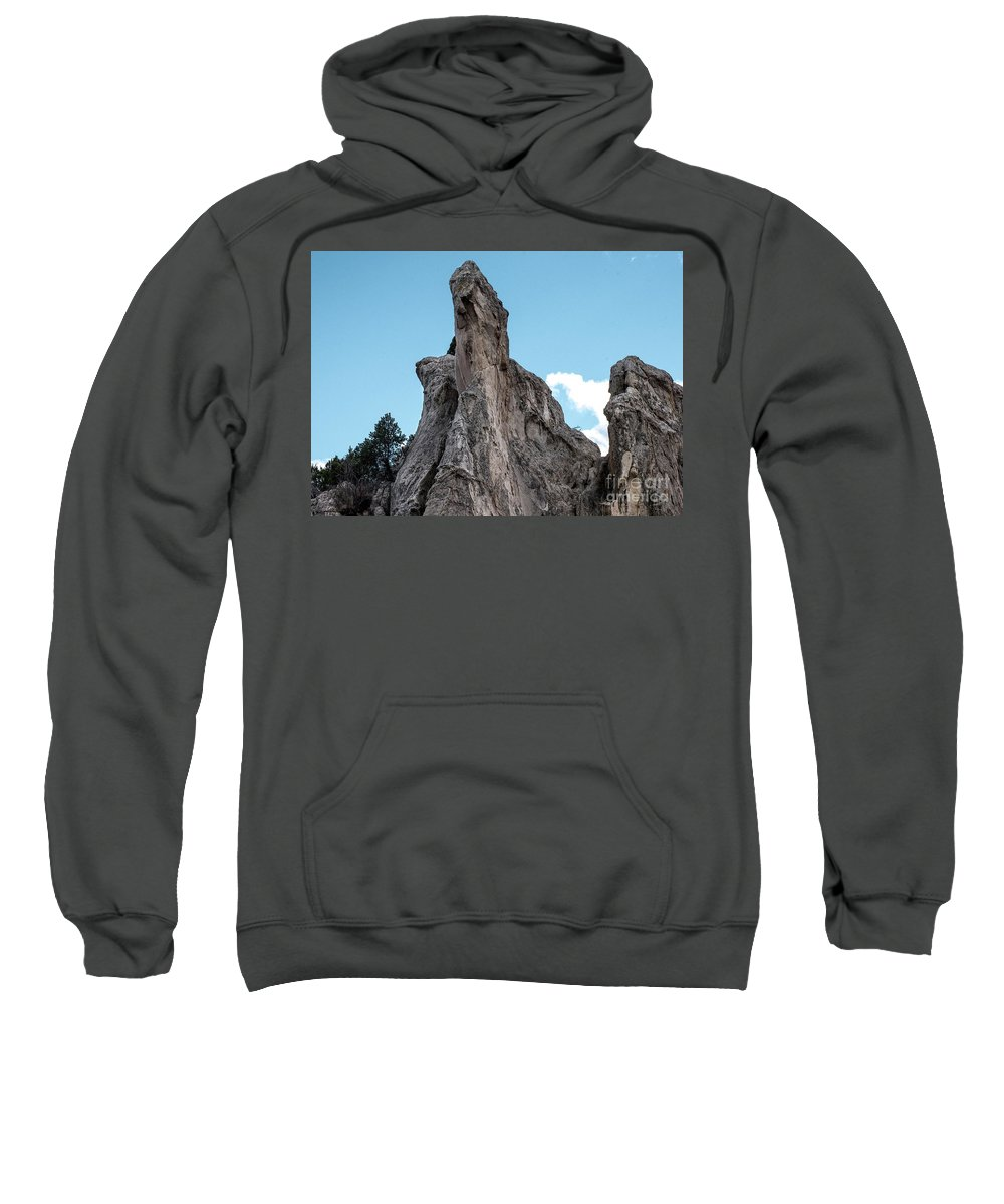 Colorado Springs Sweatshirt featuring the photograph White Rock, Garden Of The Gods by Jennifer Mitchell