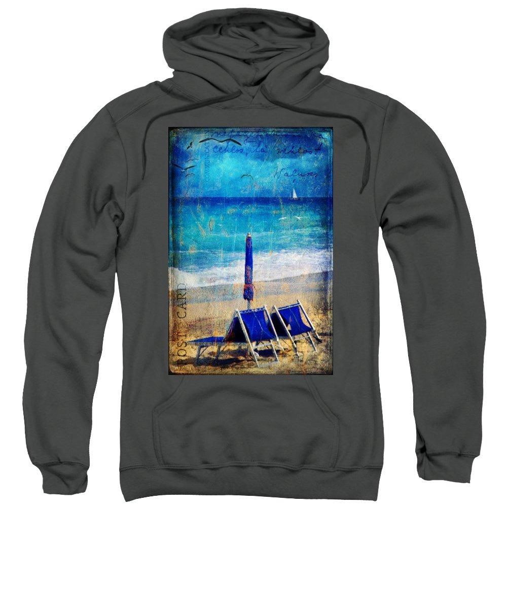 Beach Sweatshirt featuring the photograph White Sail by Silvia Ganora