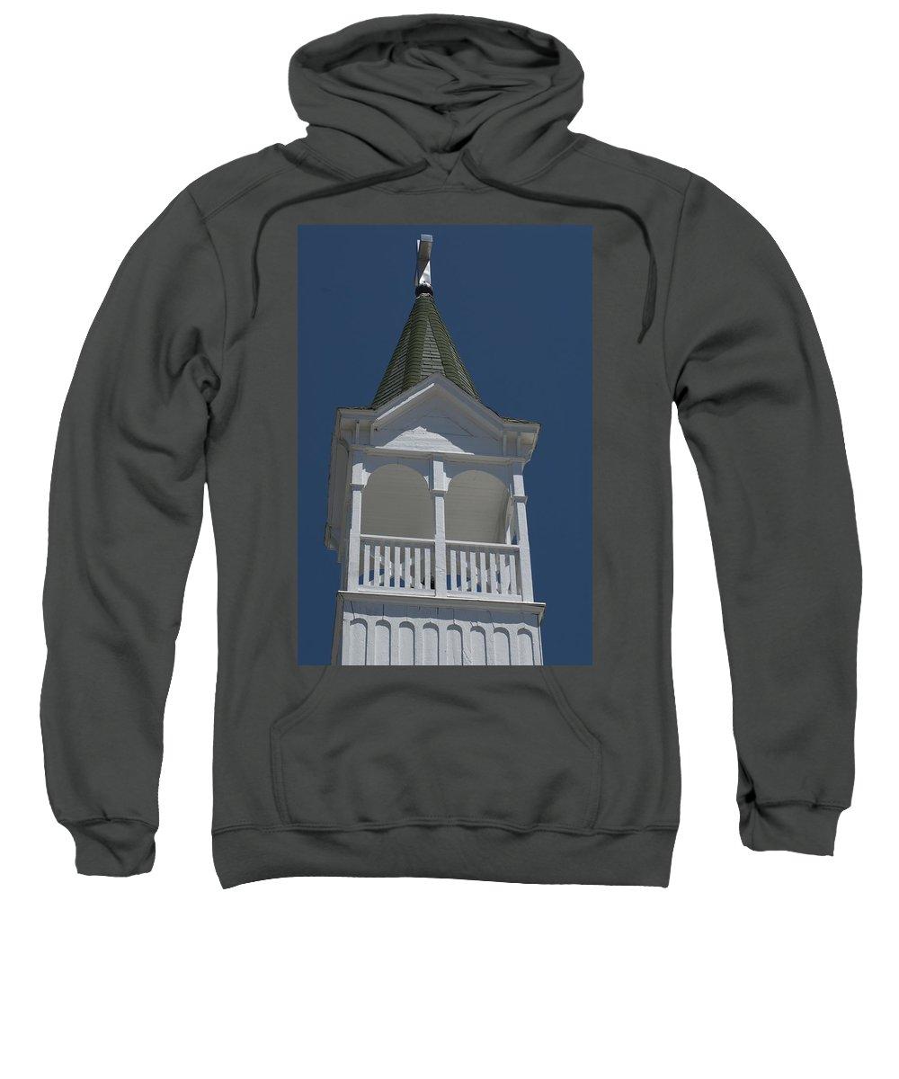 Church Sweatshirt featuring the photograph White Steeple by Sara Stevenson