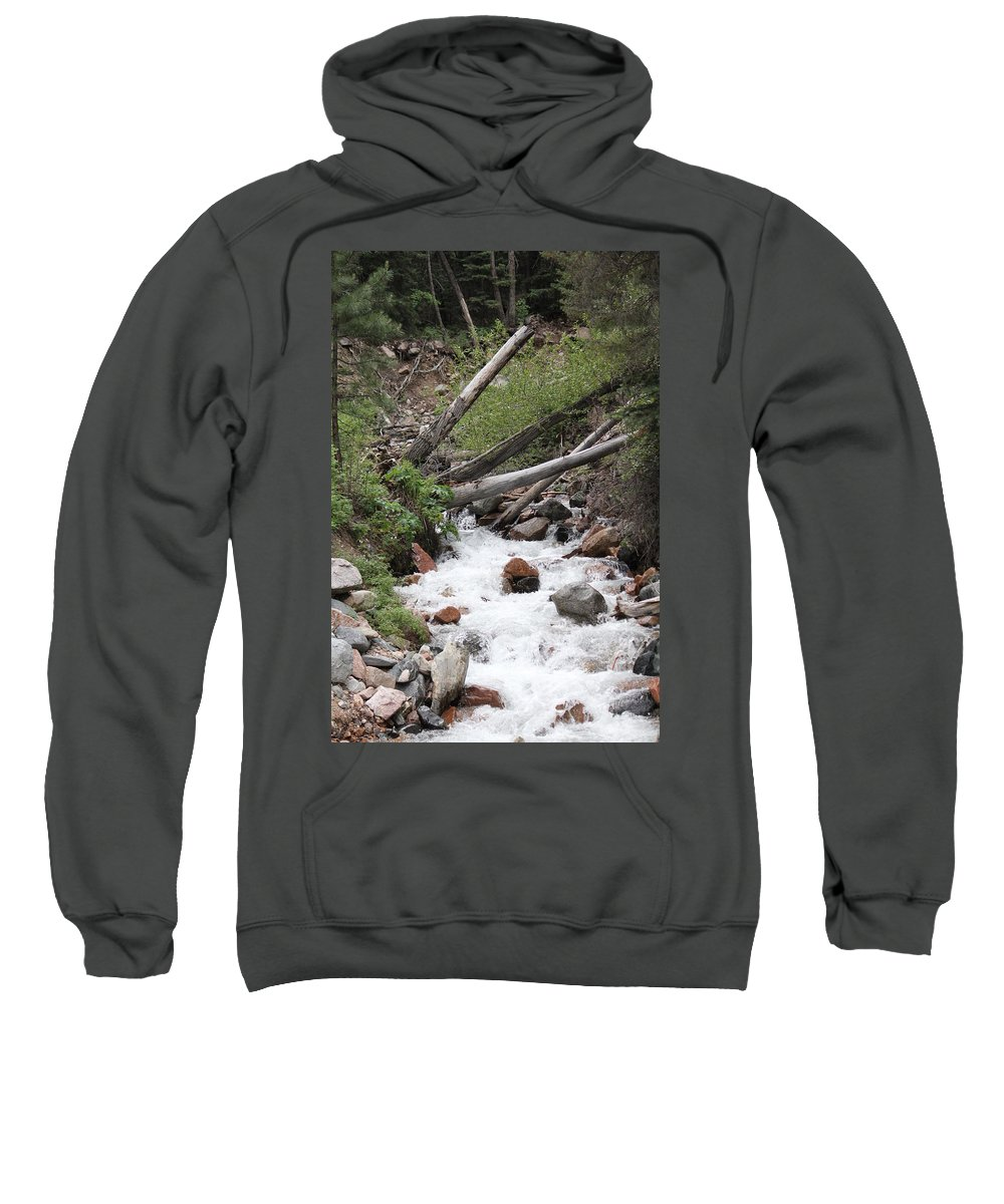River Sweatshirt featuring the photograph Whitewash by Jeremy Deweber