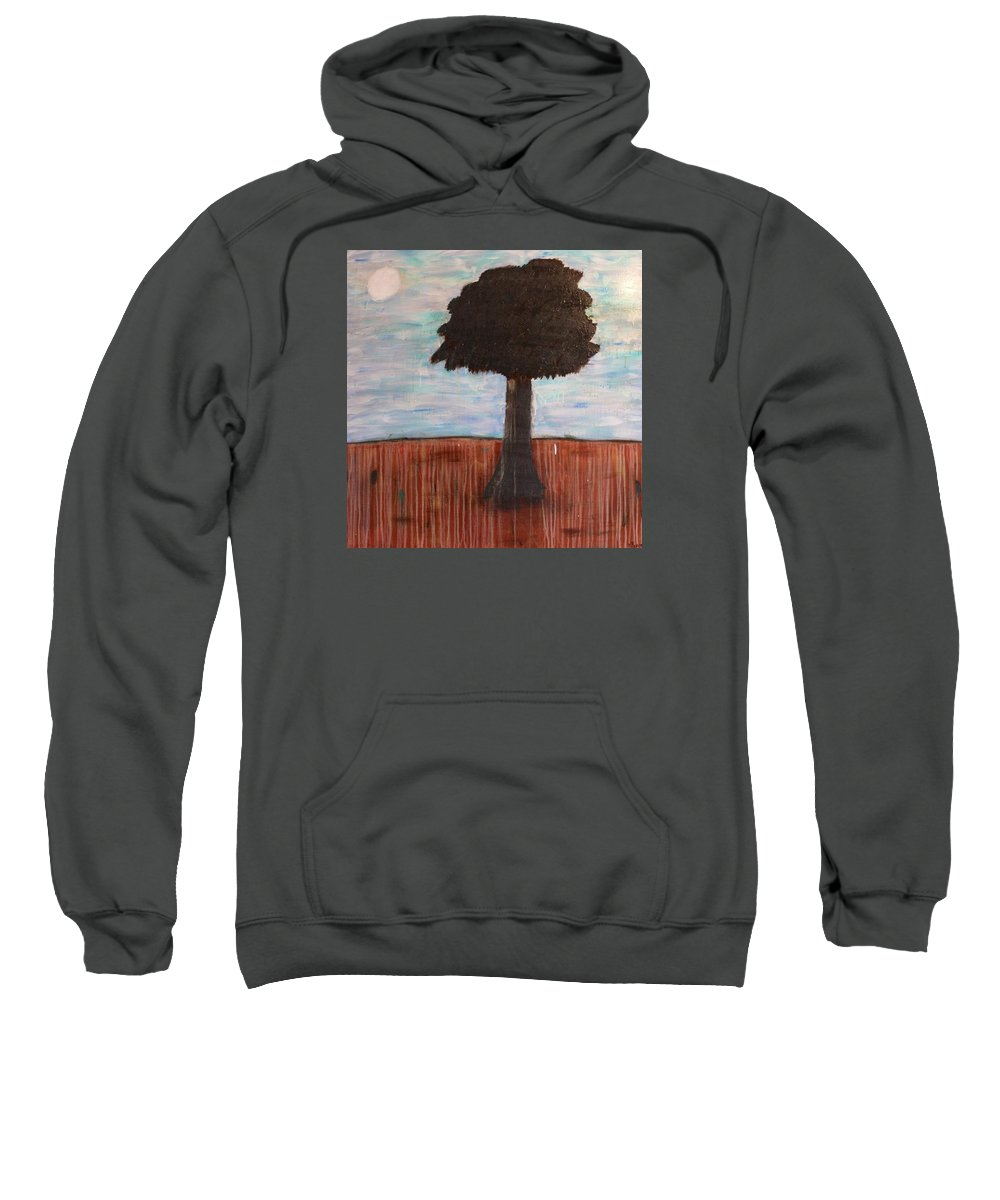 Trees Sweatshirt featuring the painting Who Me? by Mario MJ Perron