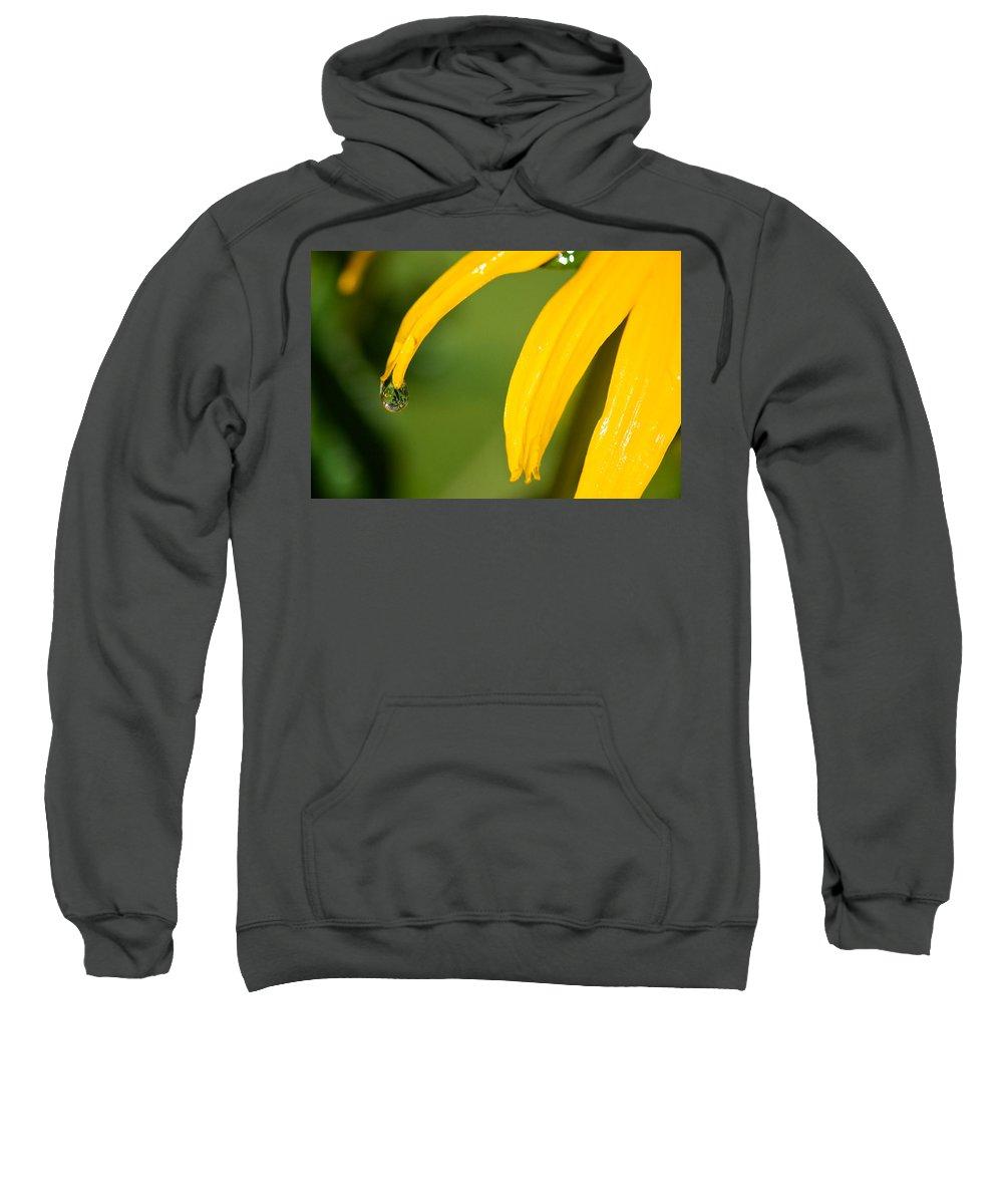 Lisa Knechtel Sweatshirt featuring the photograph Whole World Water Drop by Lisa Knechtel