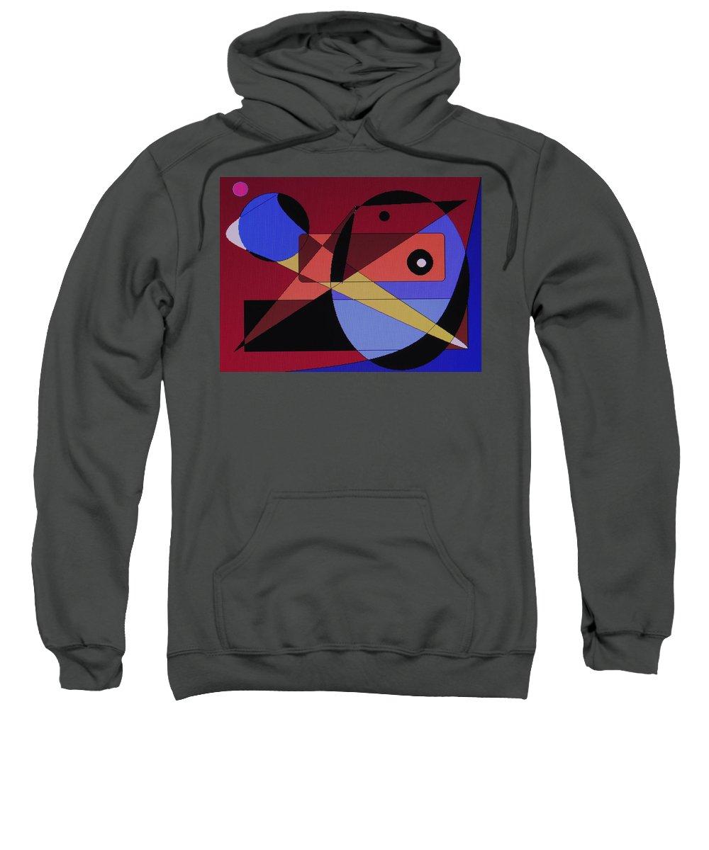 Abstract Bird Sweatshirt featuring the digital art Wild Bird by Ian MacDonald