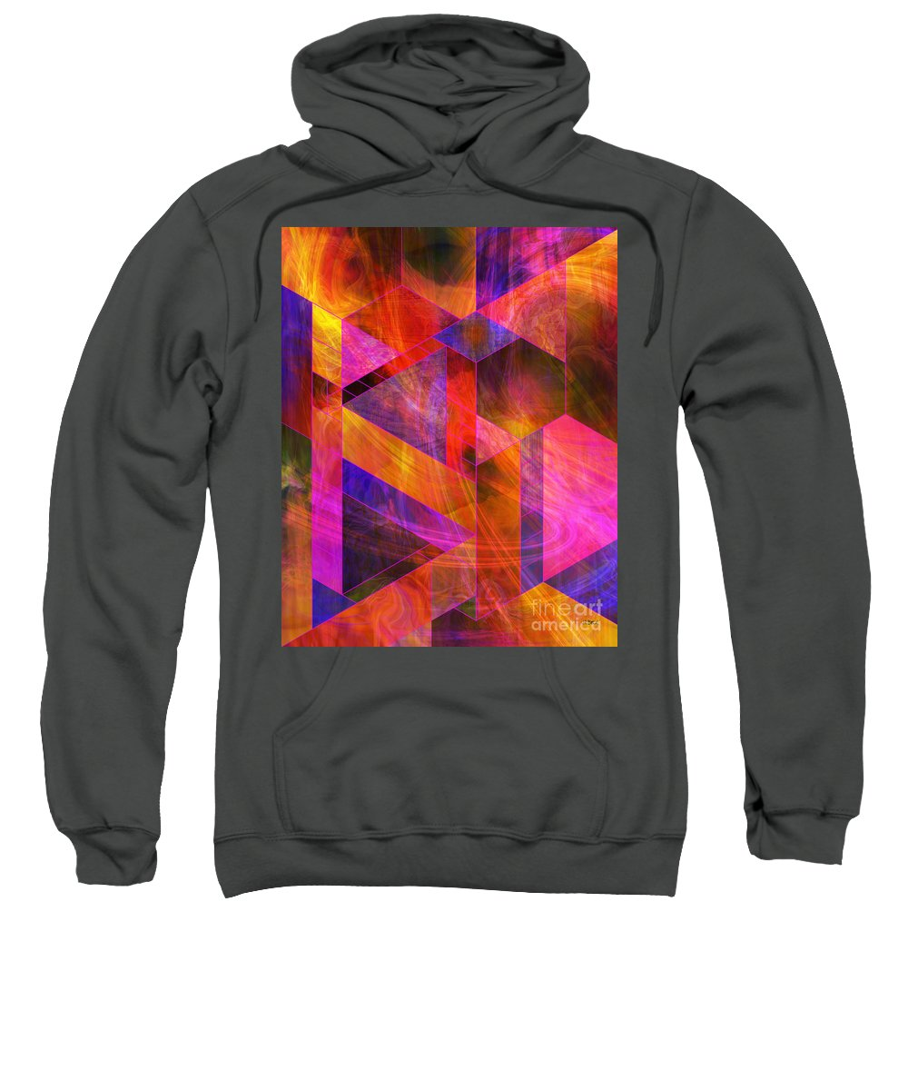 Wild Fire Sweatshirt featuring the digital art Wild Fire by John Beck