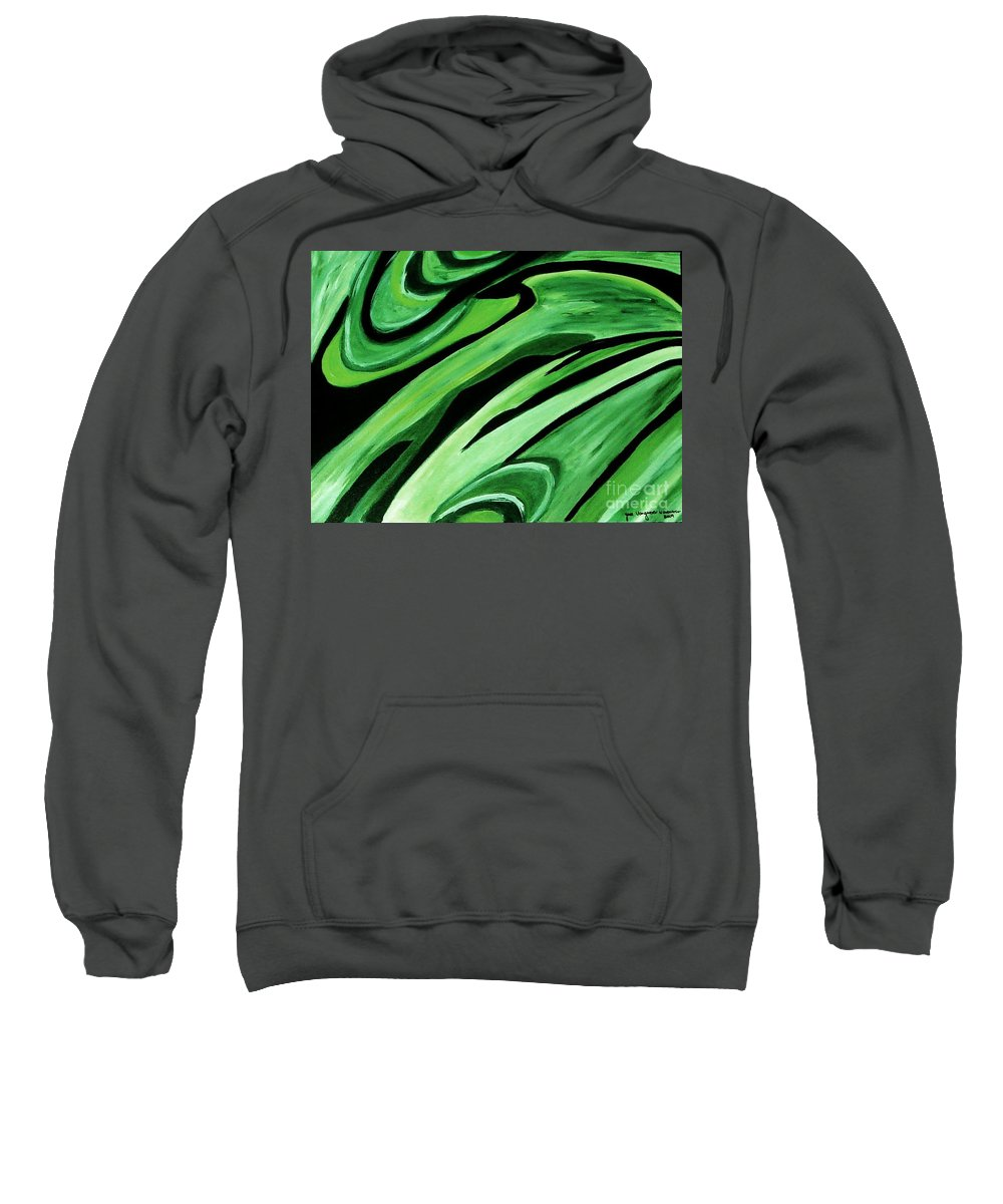 Painting Sweatshirt featuring the painting Wild Green by Yael VanGruber