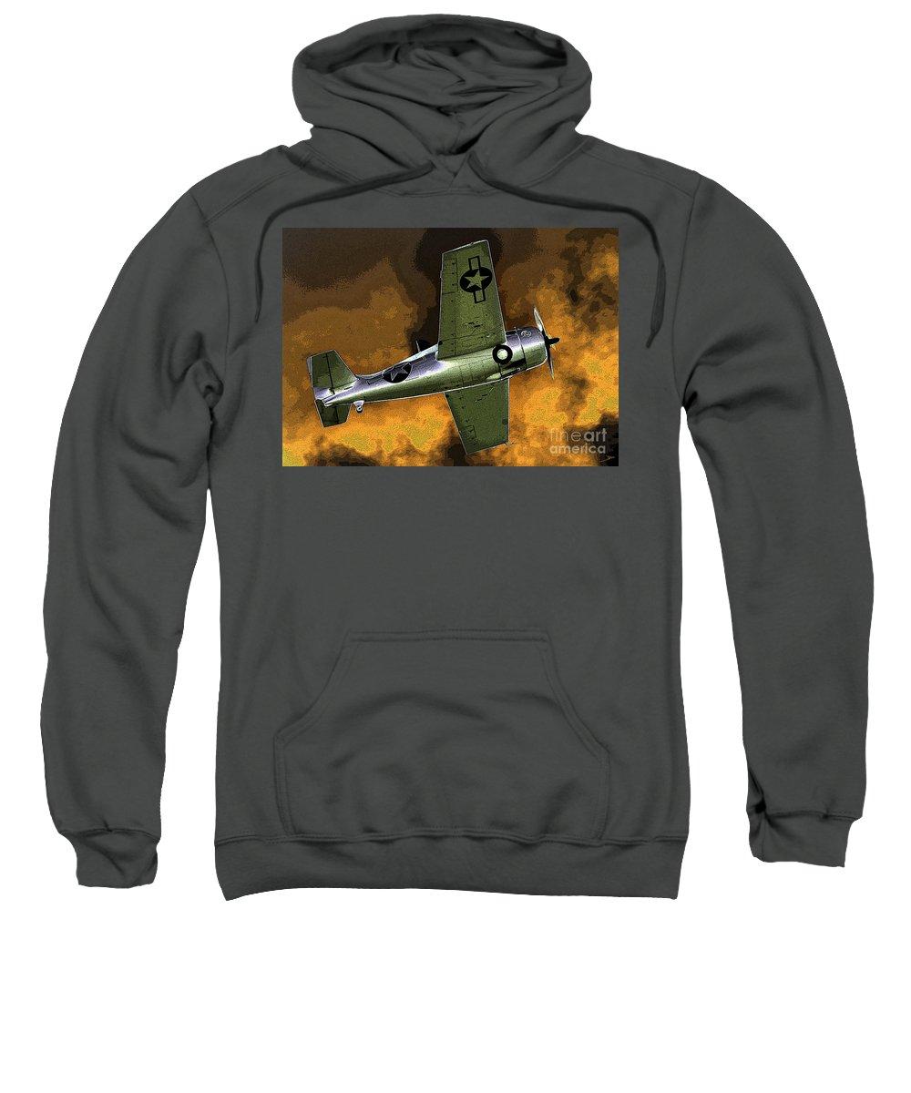 Wildcat Sweatshirt featuring the painting Wildcat by David Lee Thompson