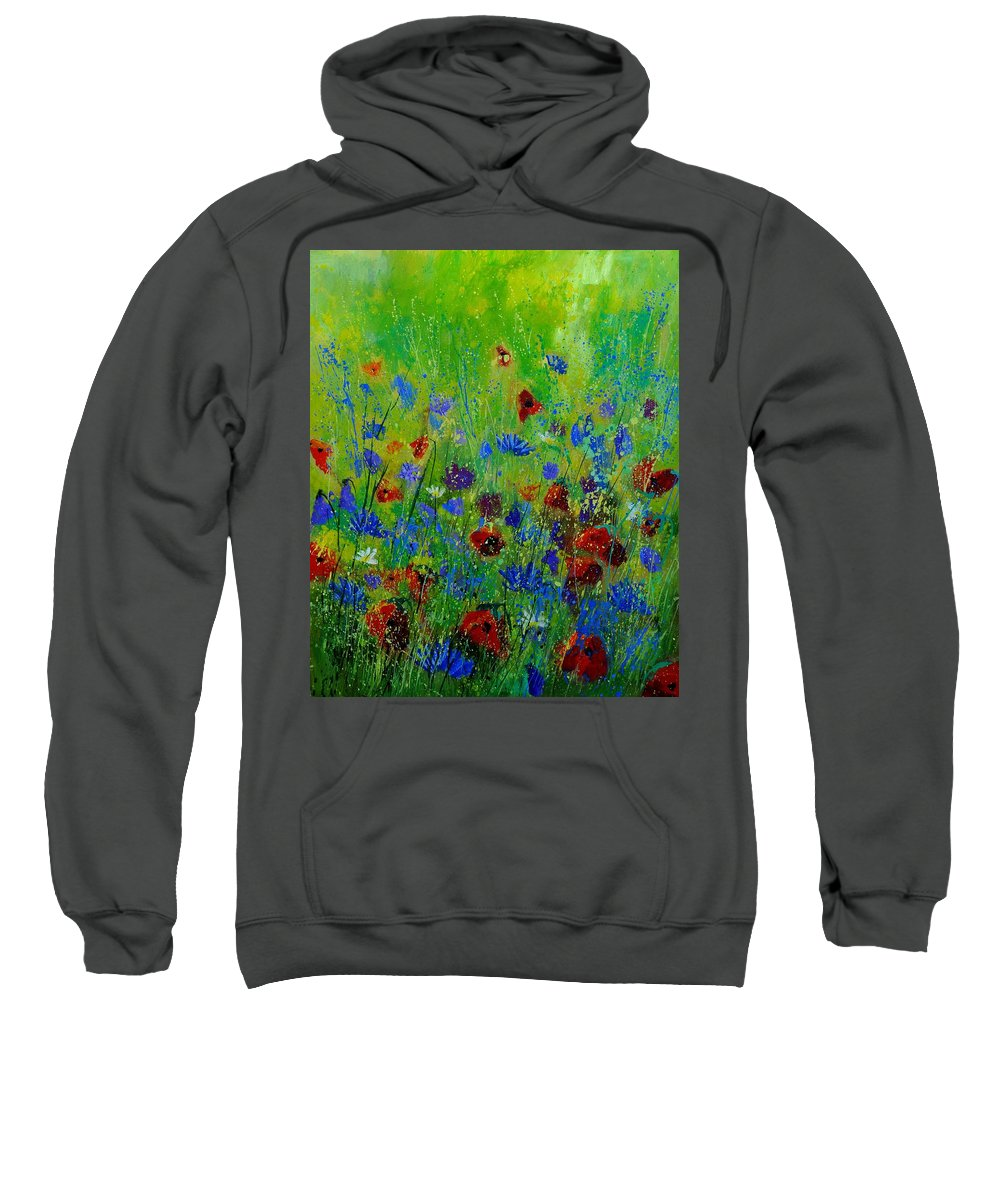 Flowers Sweatshirt featuring the painting Wildflowers 560121 by Pol Ledent