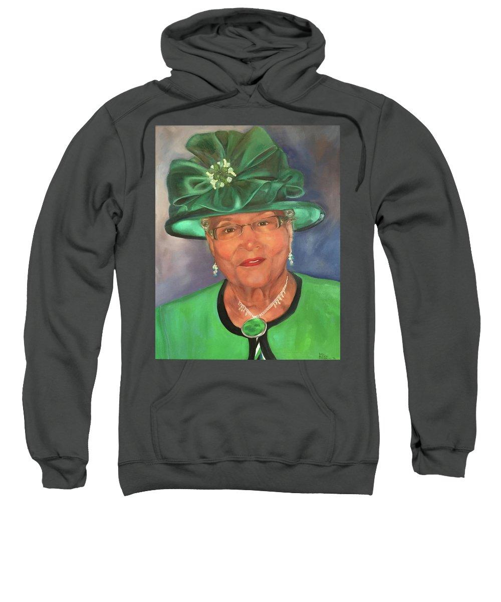 Portrait Sweatshirt featuring the painting Willie by Dani Altieri Marinucci