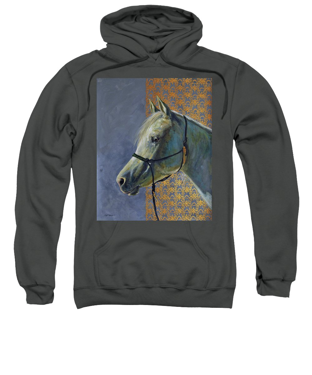 Acrylic Sweatshirt featuring the painting Willow In Winter by Suzanne McKee