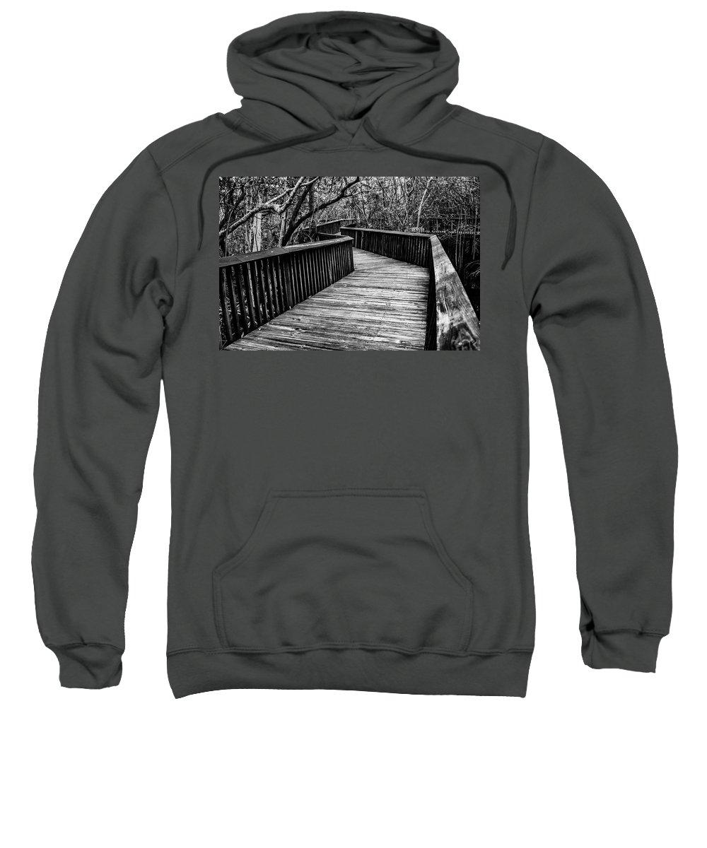 Boardwalk Sweatshirt featuring the photograph Winding Forward by Stephen Gray