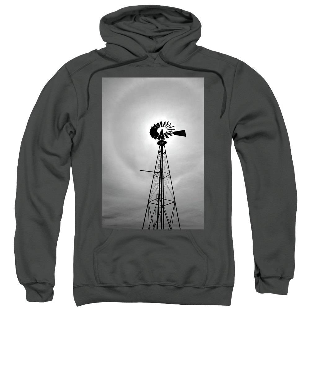 Windmill Sweatshirt featuring the photograph Windmill by Jeremy Deweber