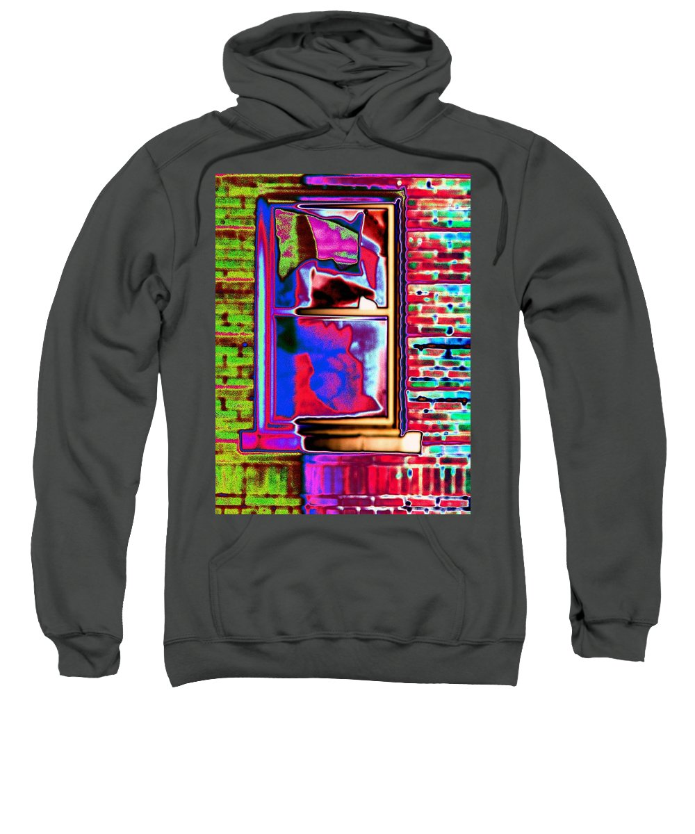 Window Sweatshirt featuring the digital art Window 1 by Tim Allen
