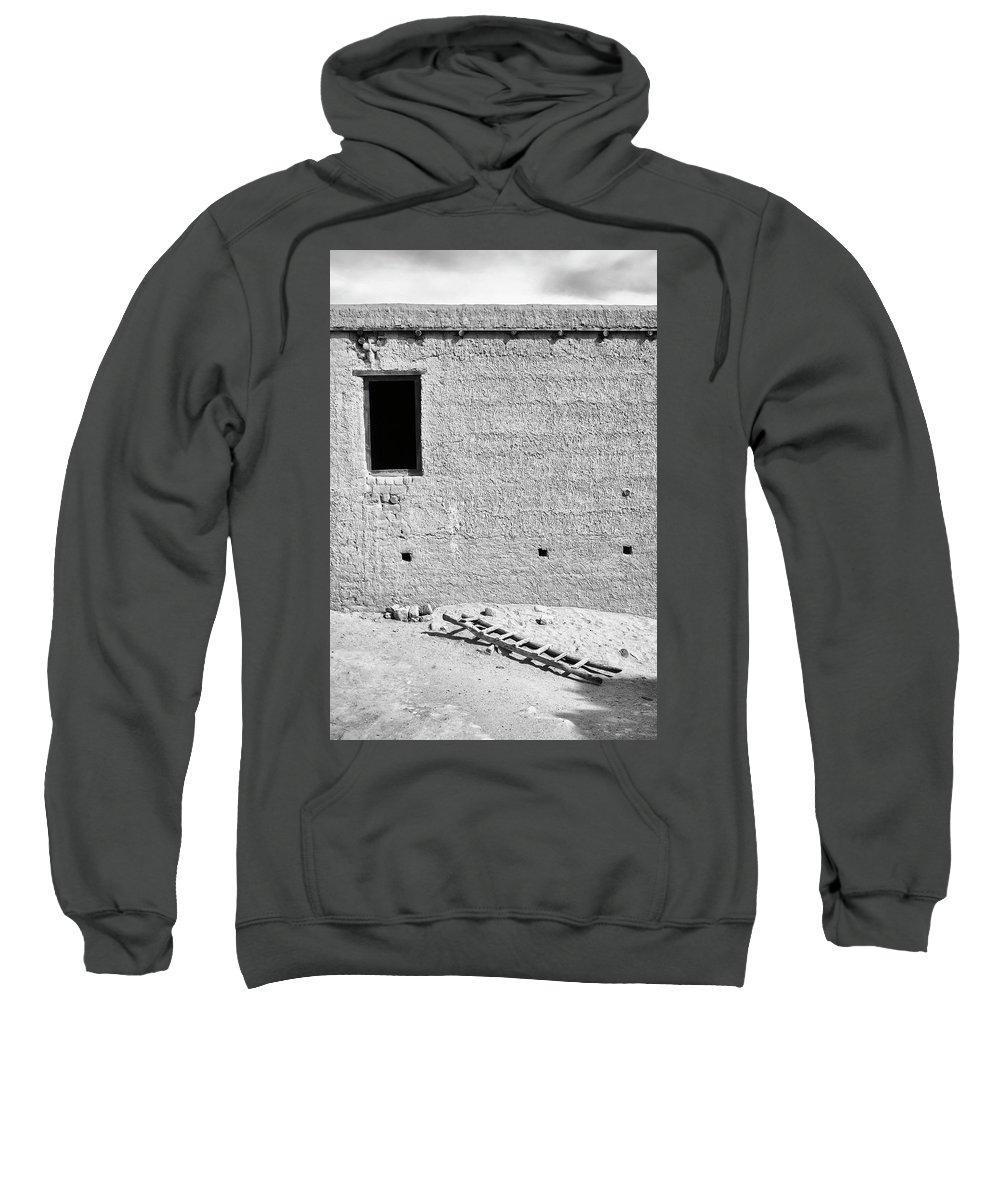 Window Sweatshirt featuring the photograph Window And Ladder, Shey, 2005 by Hitendra SINKAR