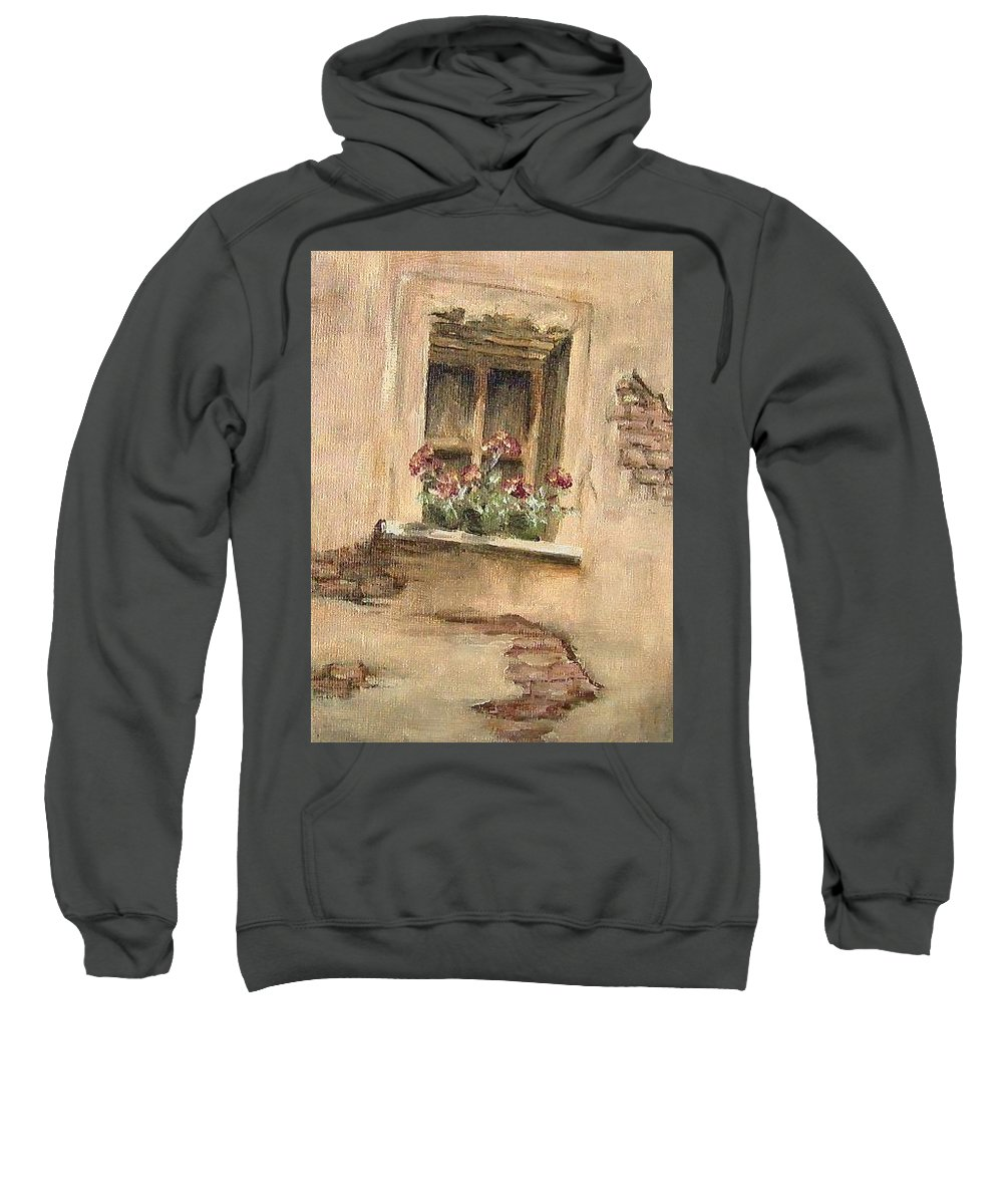 Sill Life Sweatshirt featuring the painting Window by Faye Tracy