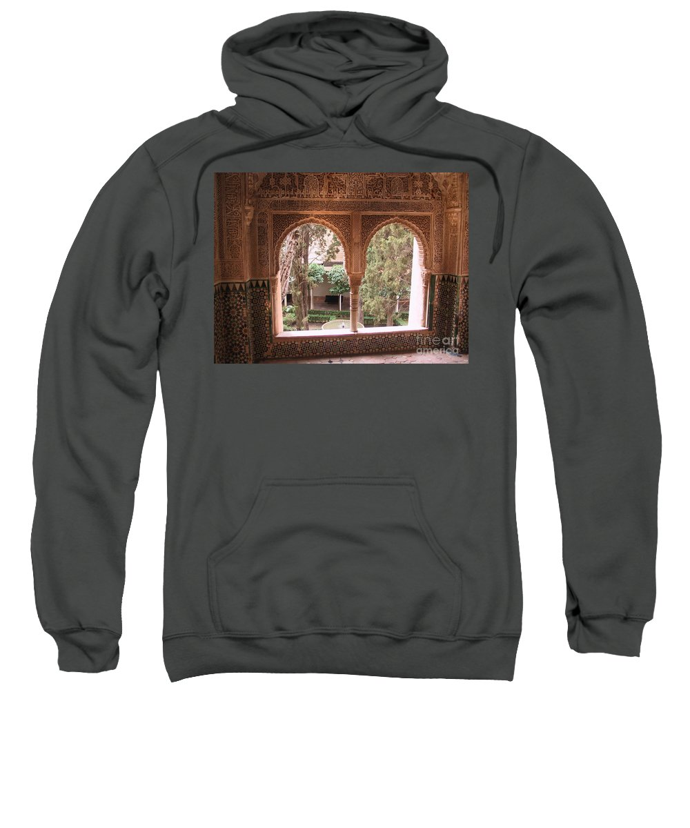 Window Sweatshirt featuring the photograph Window In La Alhambra by Thomas Marchessault