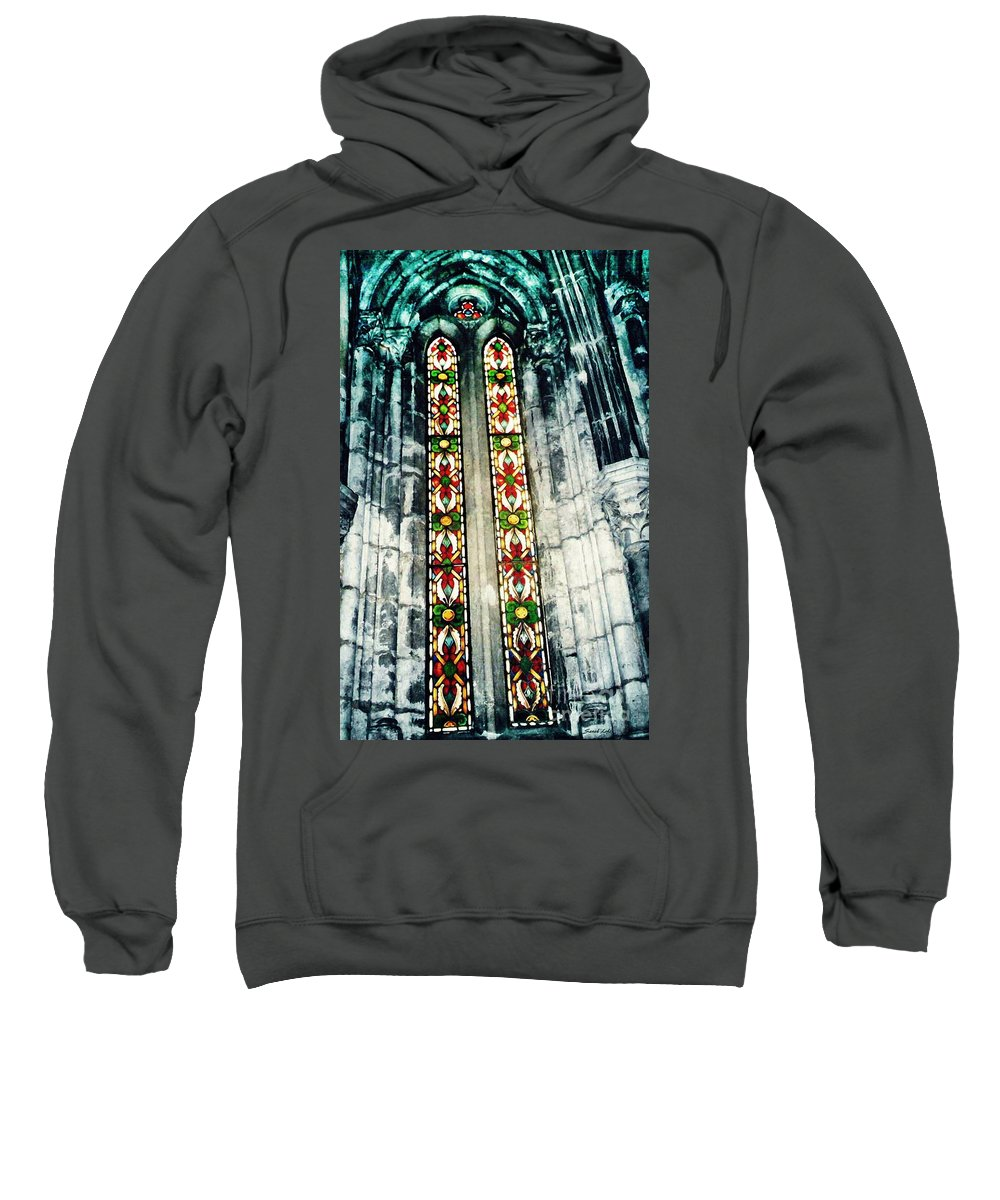 Window Sweatshirt featuring the photograph Window In The Lisbon Cathedral by Sarah Loft