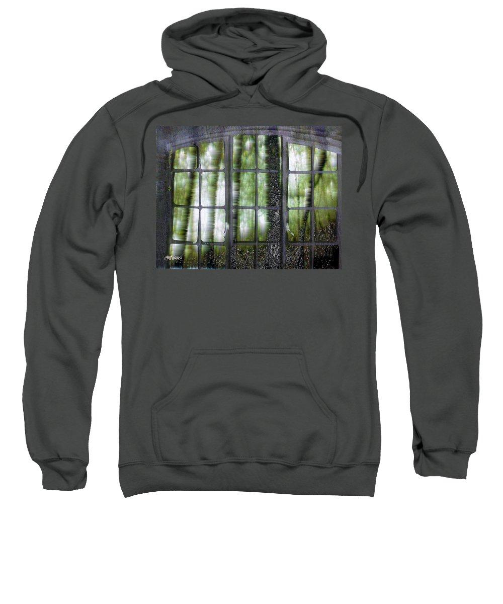 Window On The Woods Sweatshirt featuring the digital art Window On The Woods by Seth Weaver