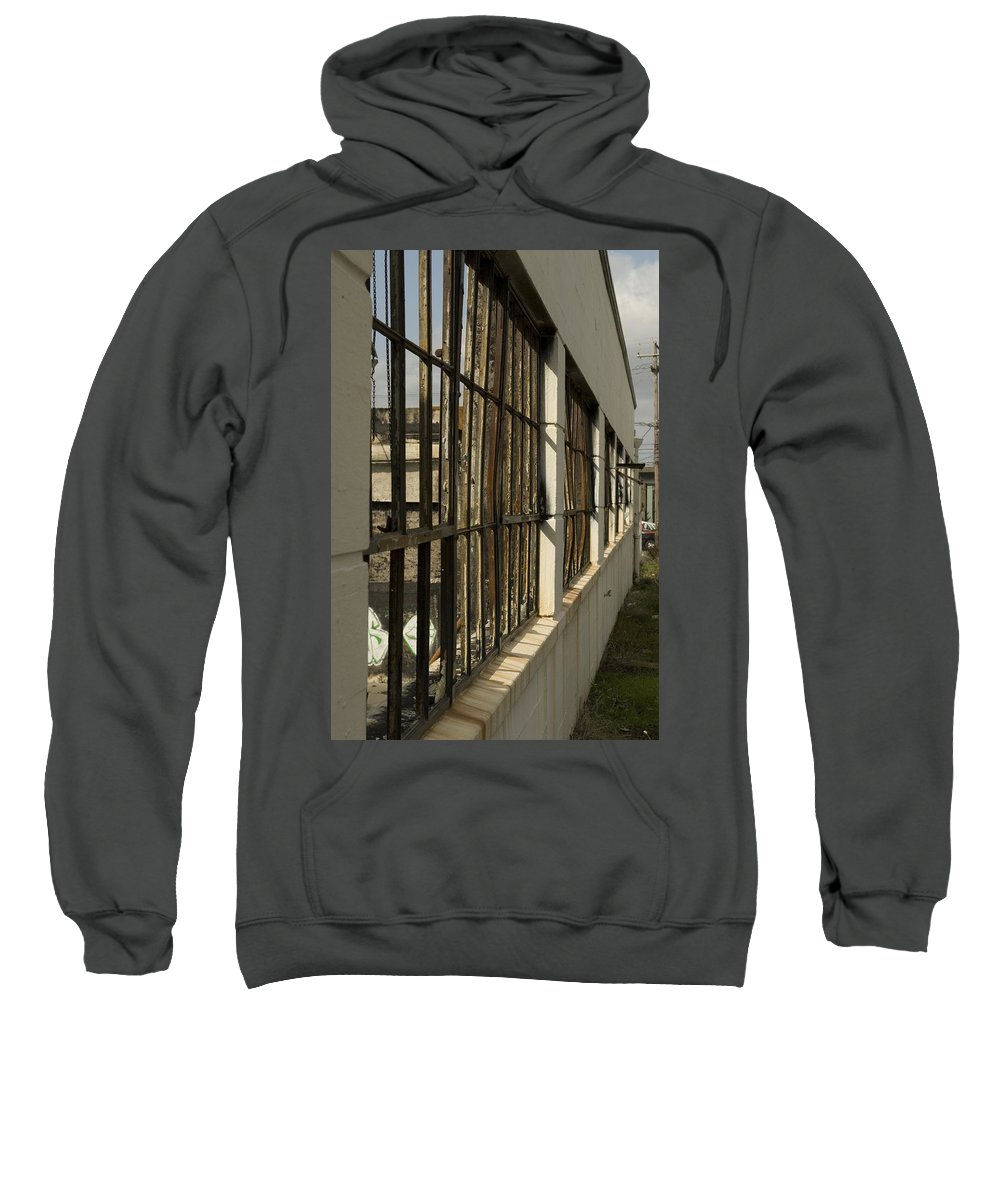 Window Sweatshirt featuring the photograph Window's Pain 5 by Sara Stevenson